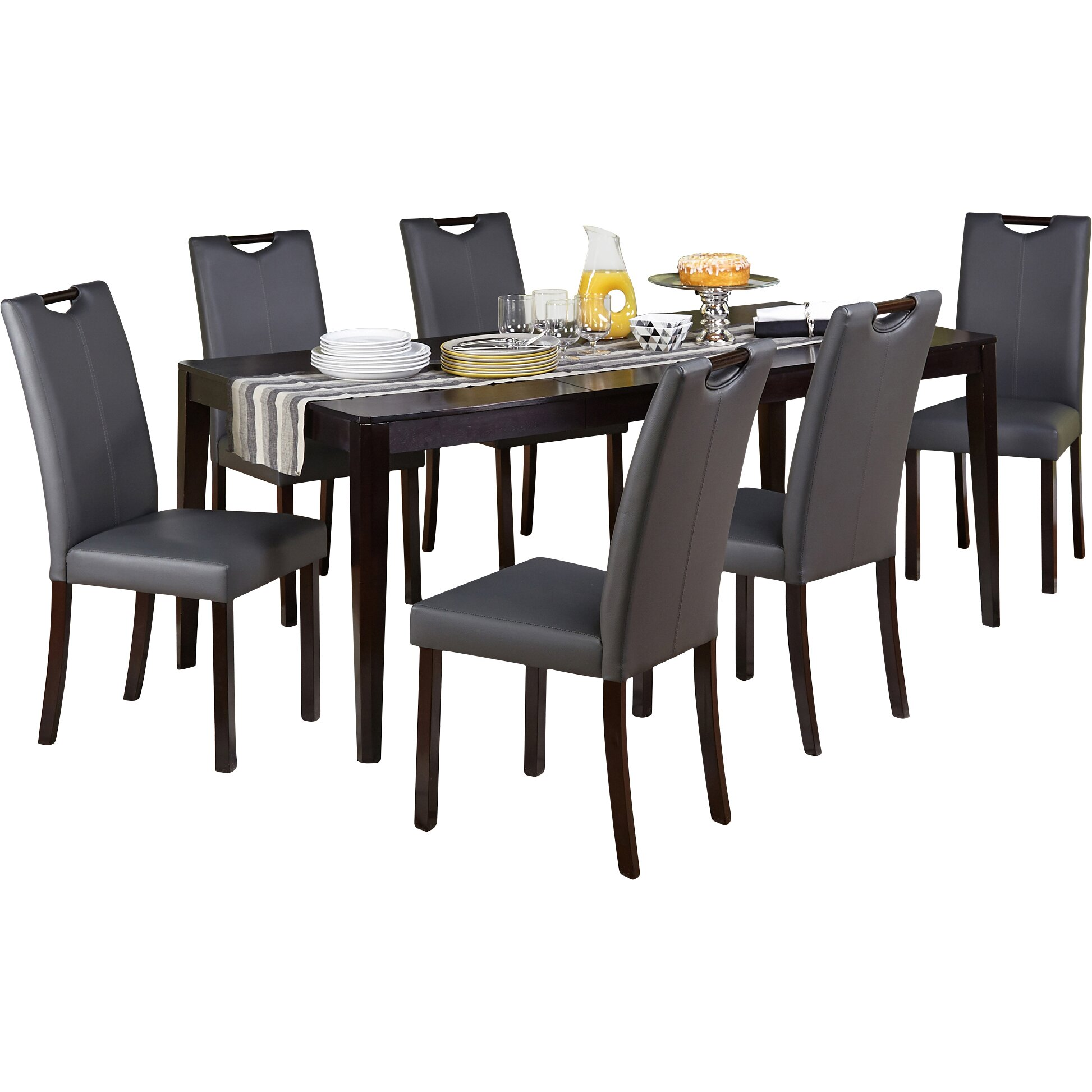 Tms tilo 7 piece dining set reviews wayfair for Furniture 7 credit reviews