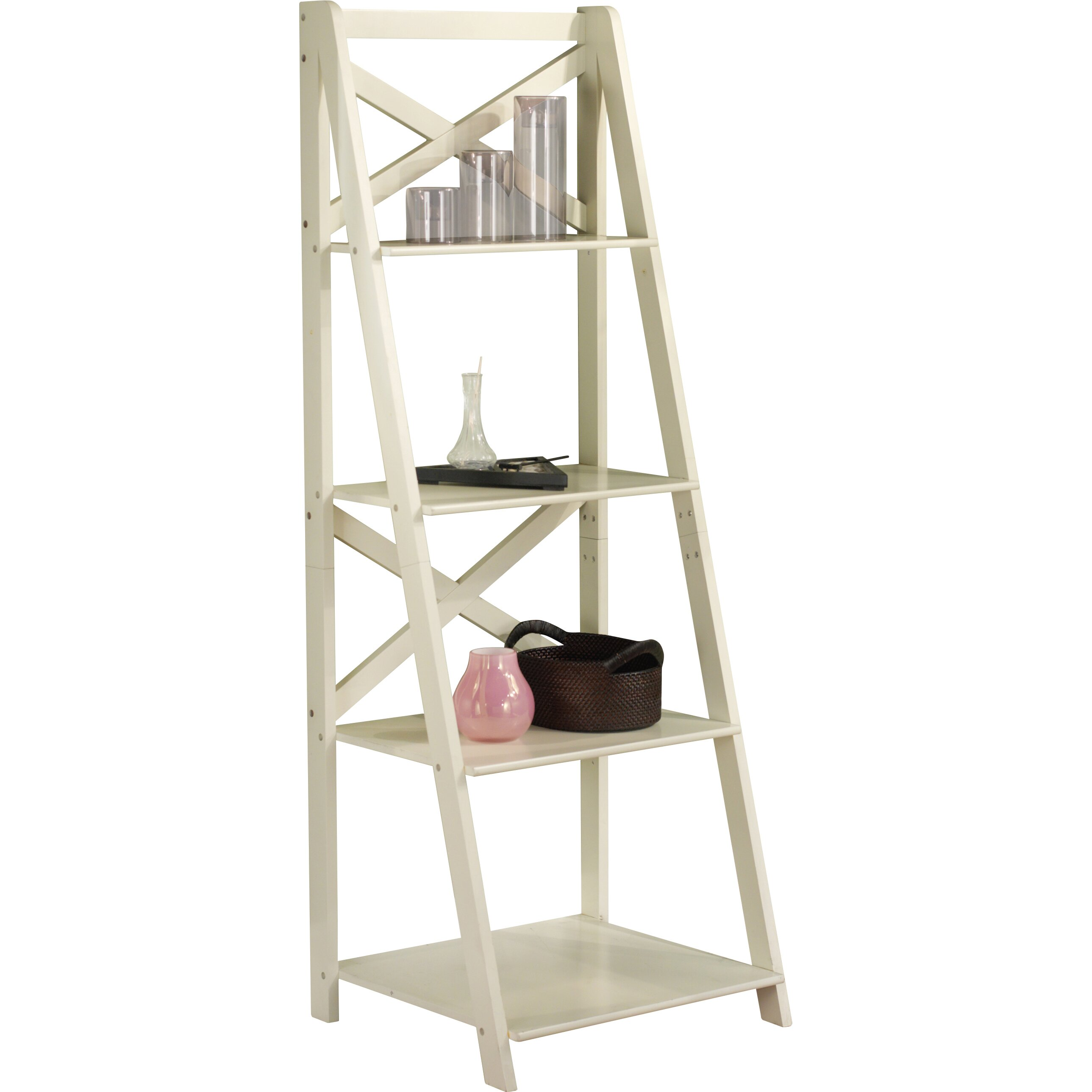 Tms 56 Leaning Bookcase Reviews Wayfair