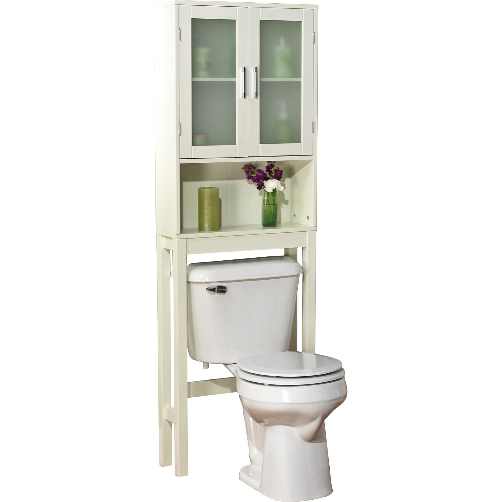 "TMS Free Standing 21"" W X 67.3"" H Over The Toilet Storage"
