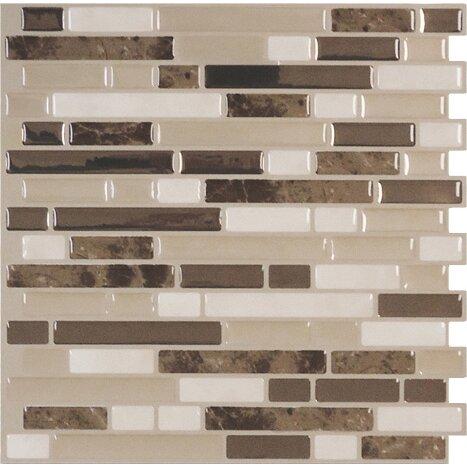 smart tiles mosaik bellagio bello x 10 peel stick wal