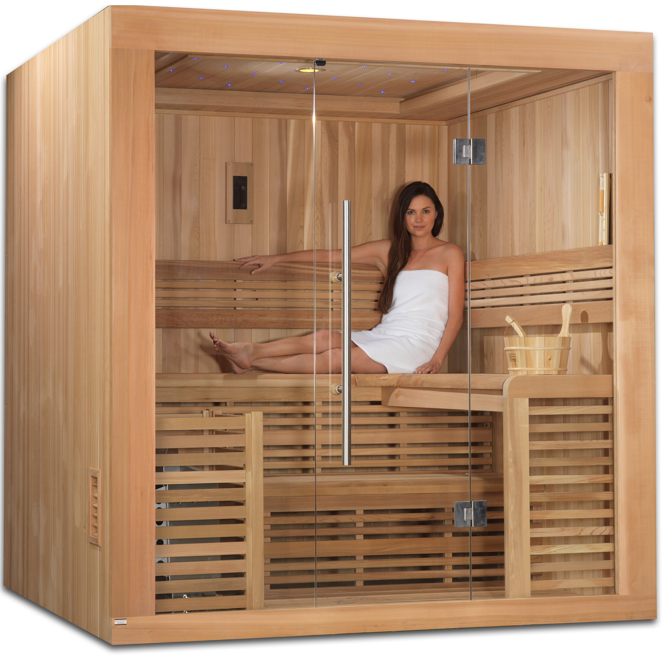 Golden Designs 4 6 Person Ceramic Far Infrared Sauna Wayfair