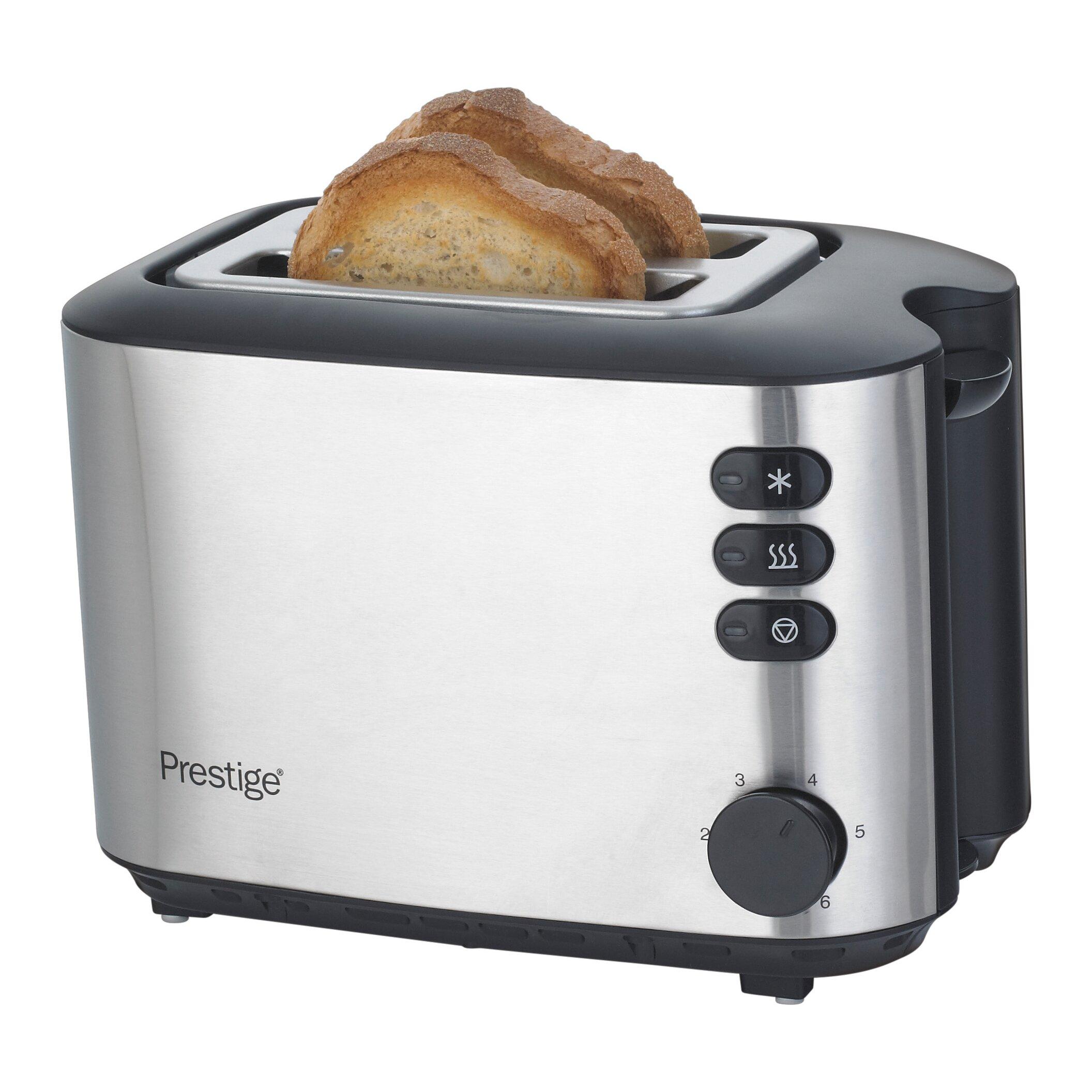 Prestige 2 Slice Brushed Stainless Steel Toaster