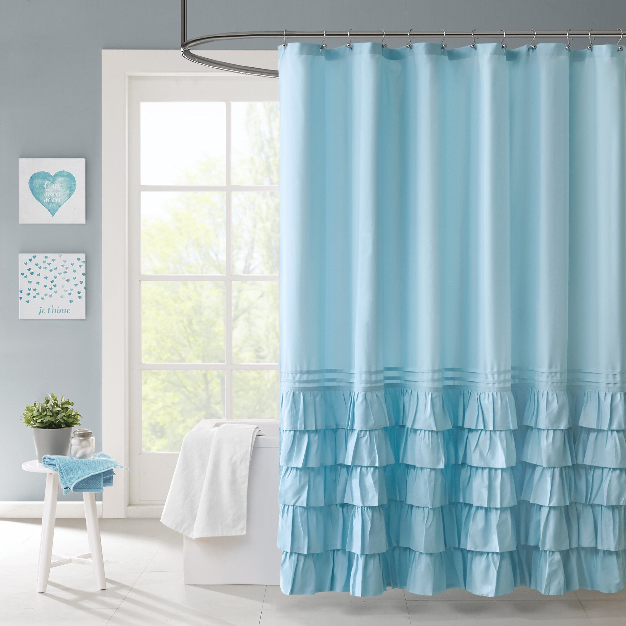 Intelligent design waterfall shower curtain reviews - Intelligent shower ...