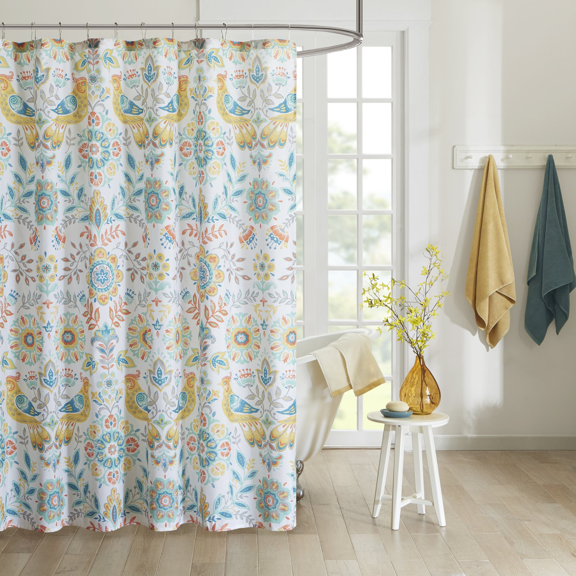 Intelligent Design Nina Printed Shower Curtain Amp Reviews