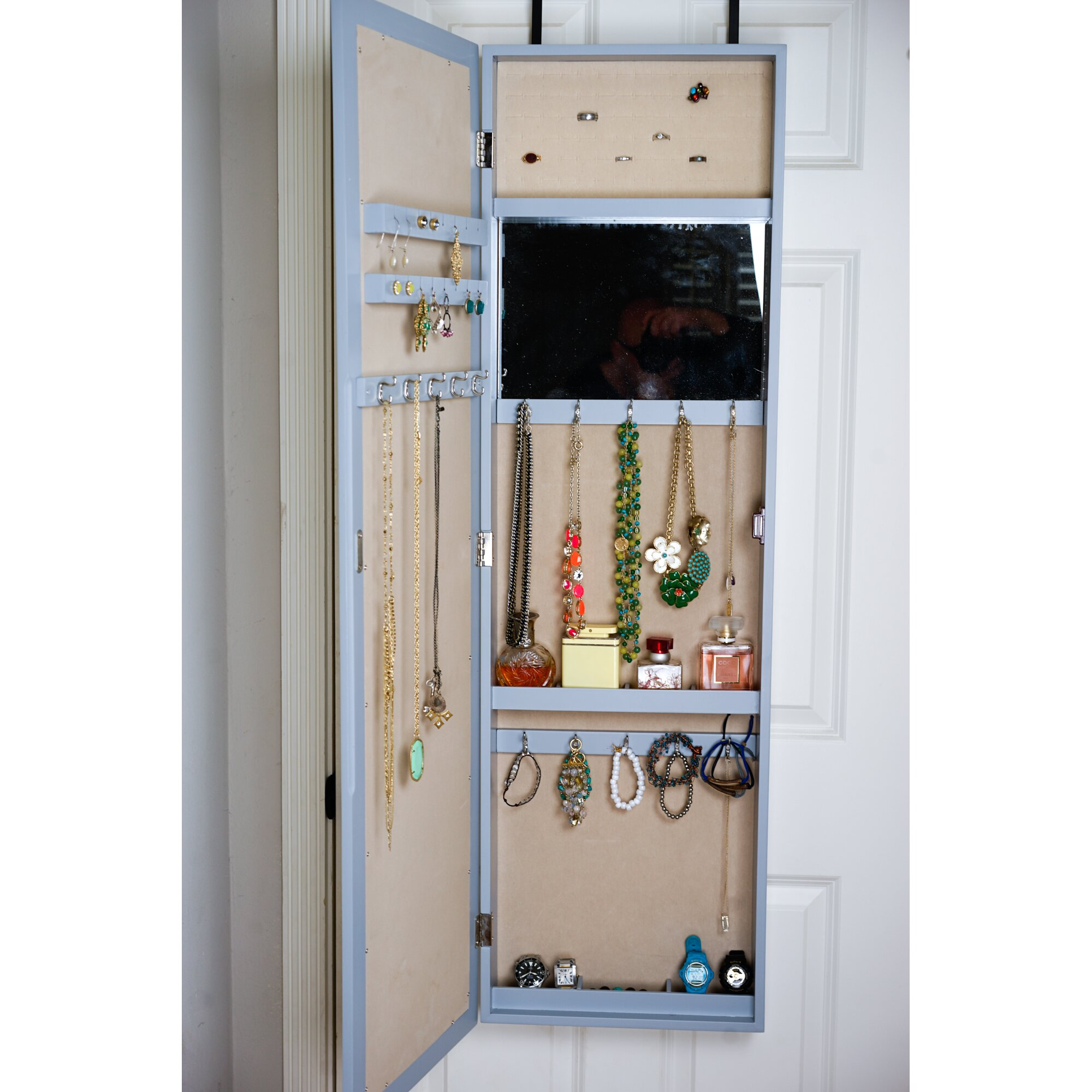 Hives & Honey Paige Over The Door Jewelry Armoire with ...