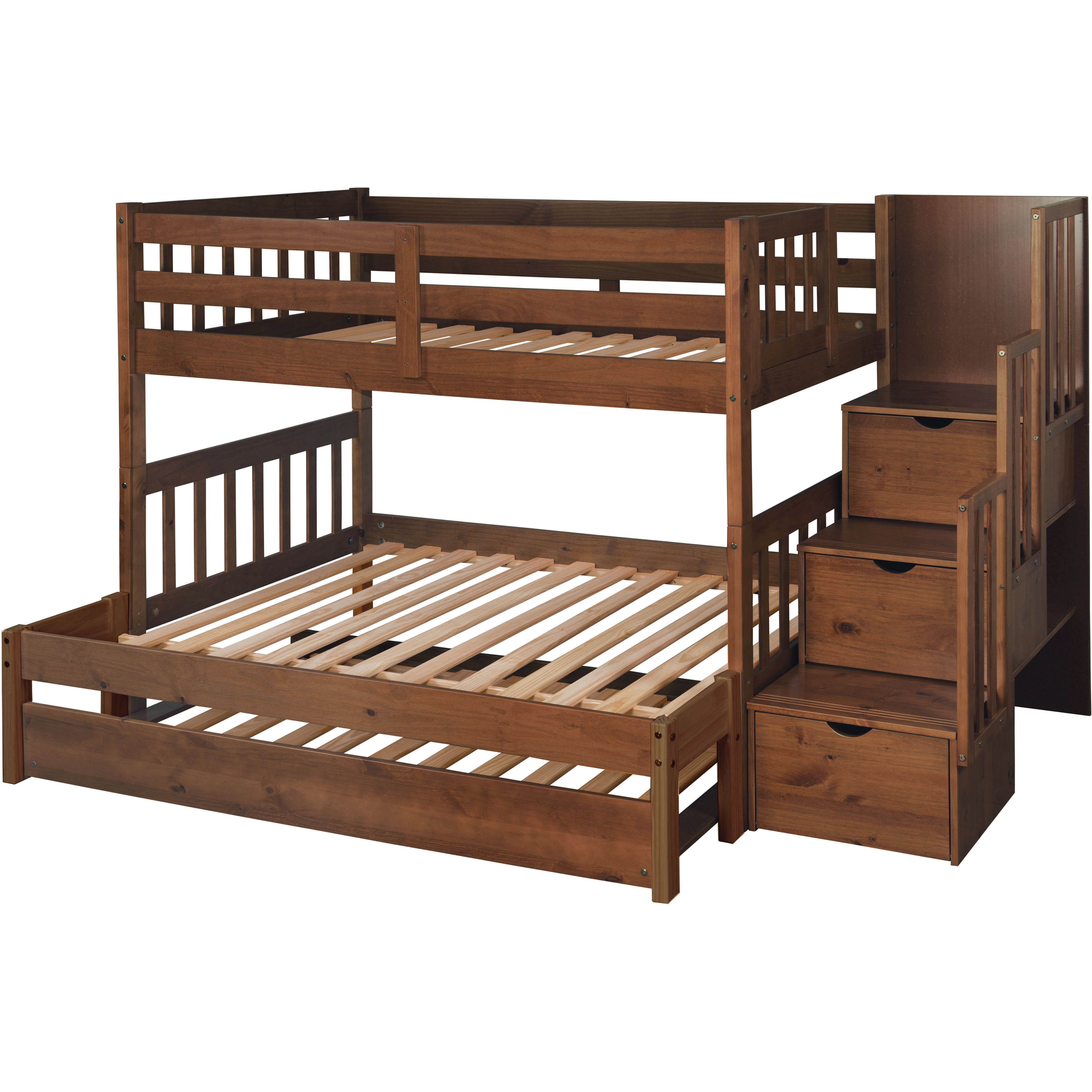 Just Cabinets Wyatt Twin Over Full Bunk Bed With Trundle