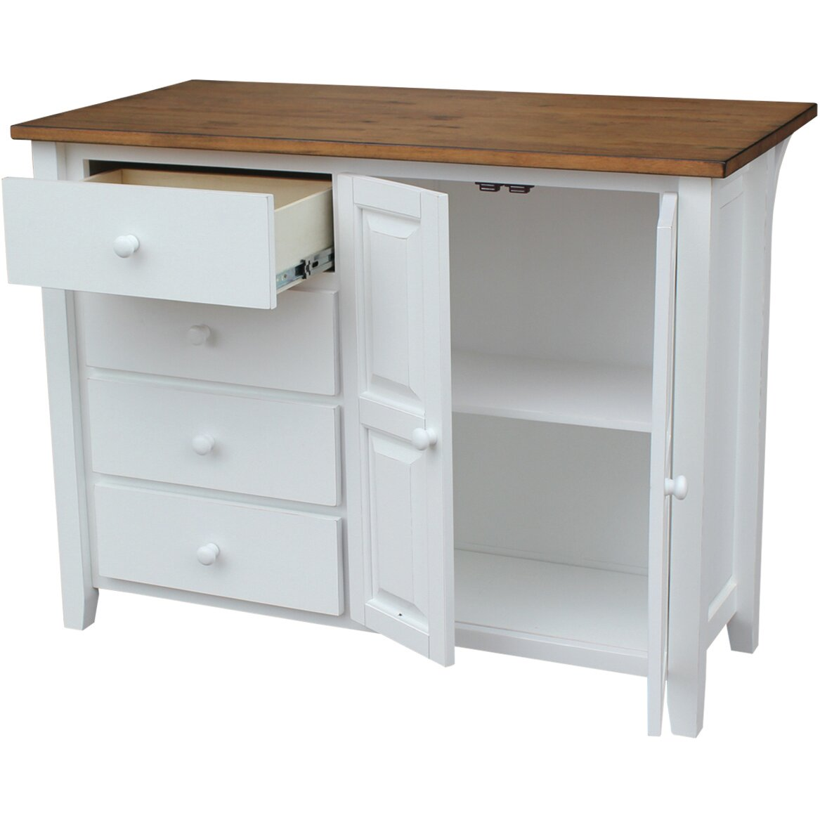 Just cabinets belmont kitchen island wayfair for Kitchen island with cupboards