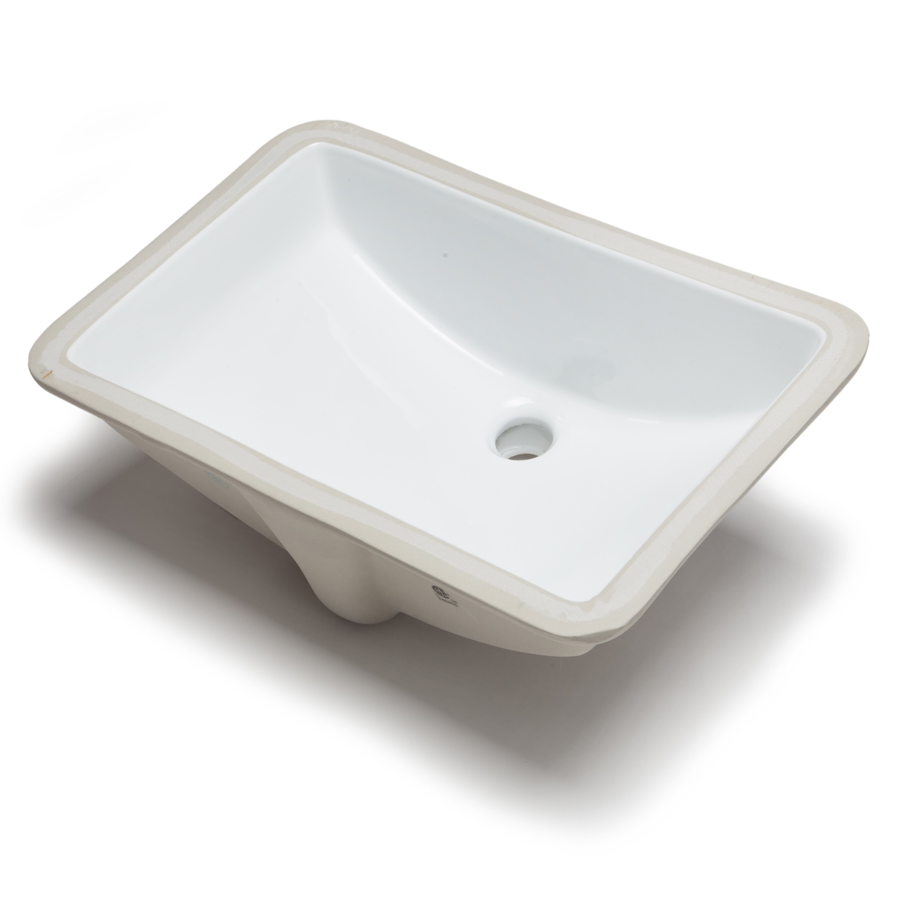 Hahn Ceramic Bowl Rectangular Undermount Bathroom Sink With Overflow Reviews Wayfair