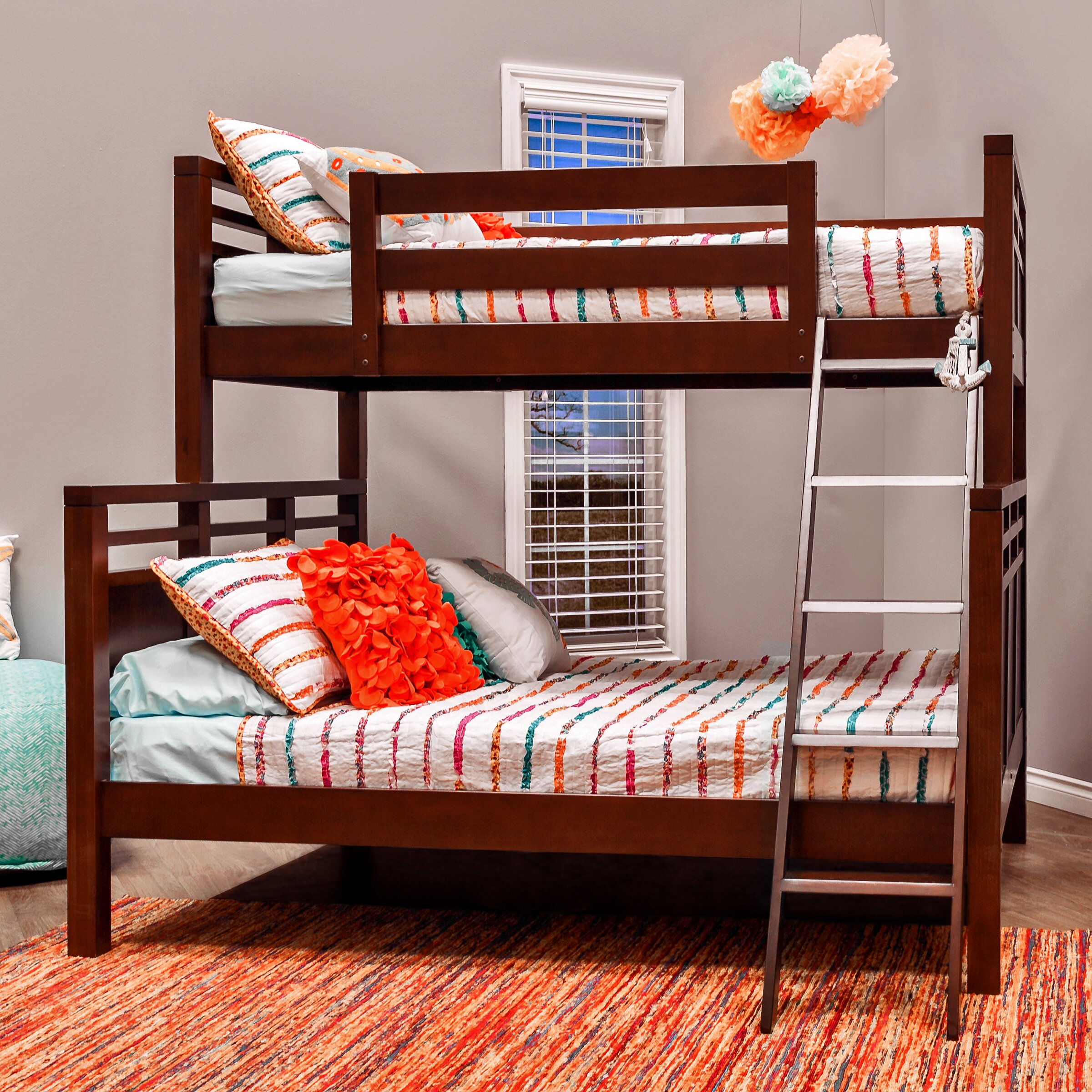 epoch design quinn twin over full bunk bed wayfair. Black Bedroom Furniture Sets. Home Design Ideas