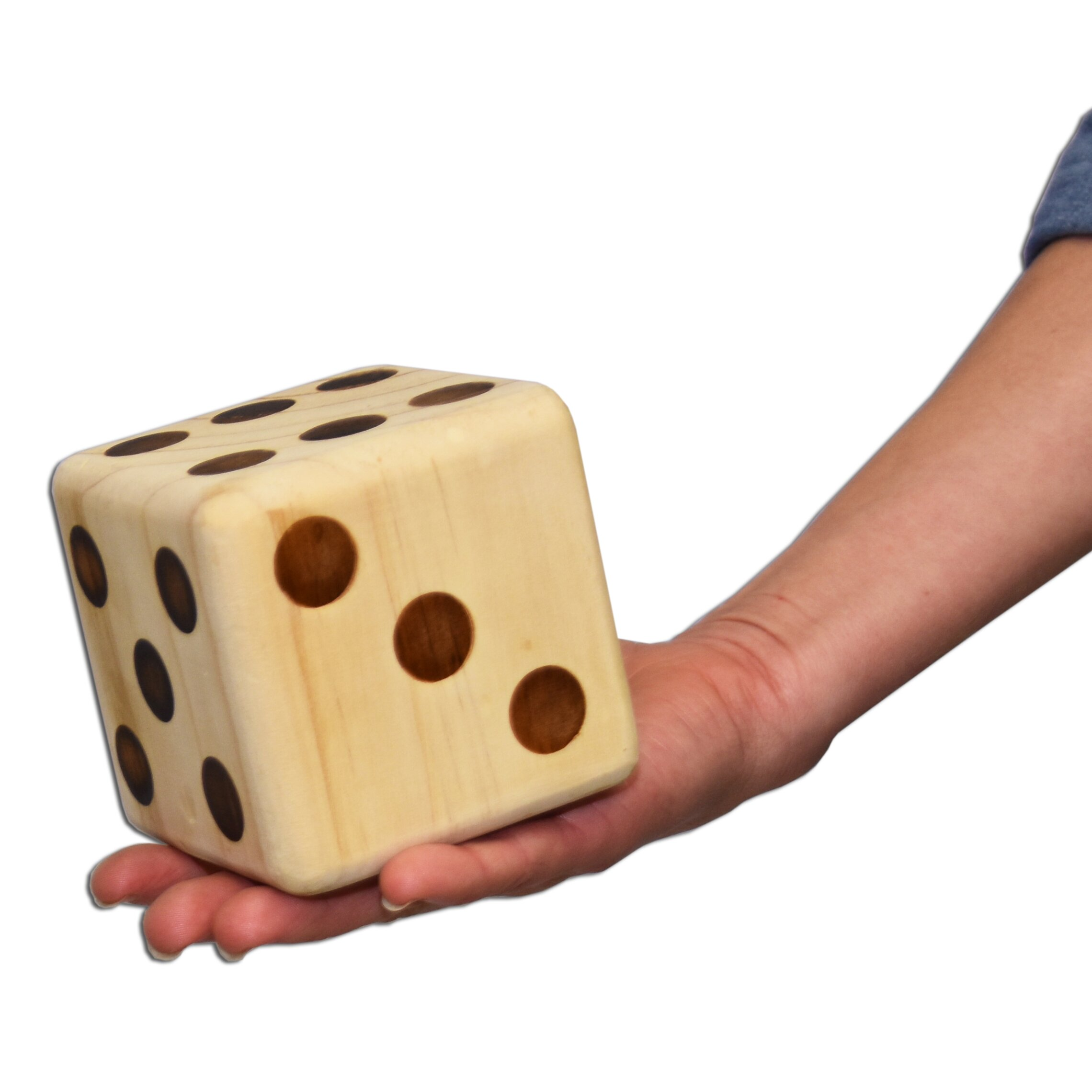 Gosports giant wooden dice wayfair