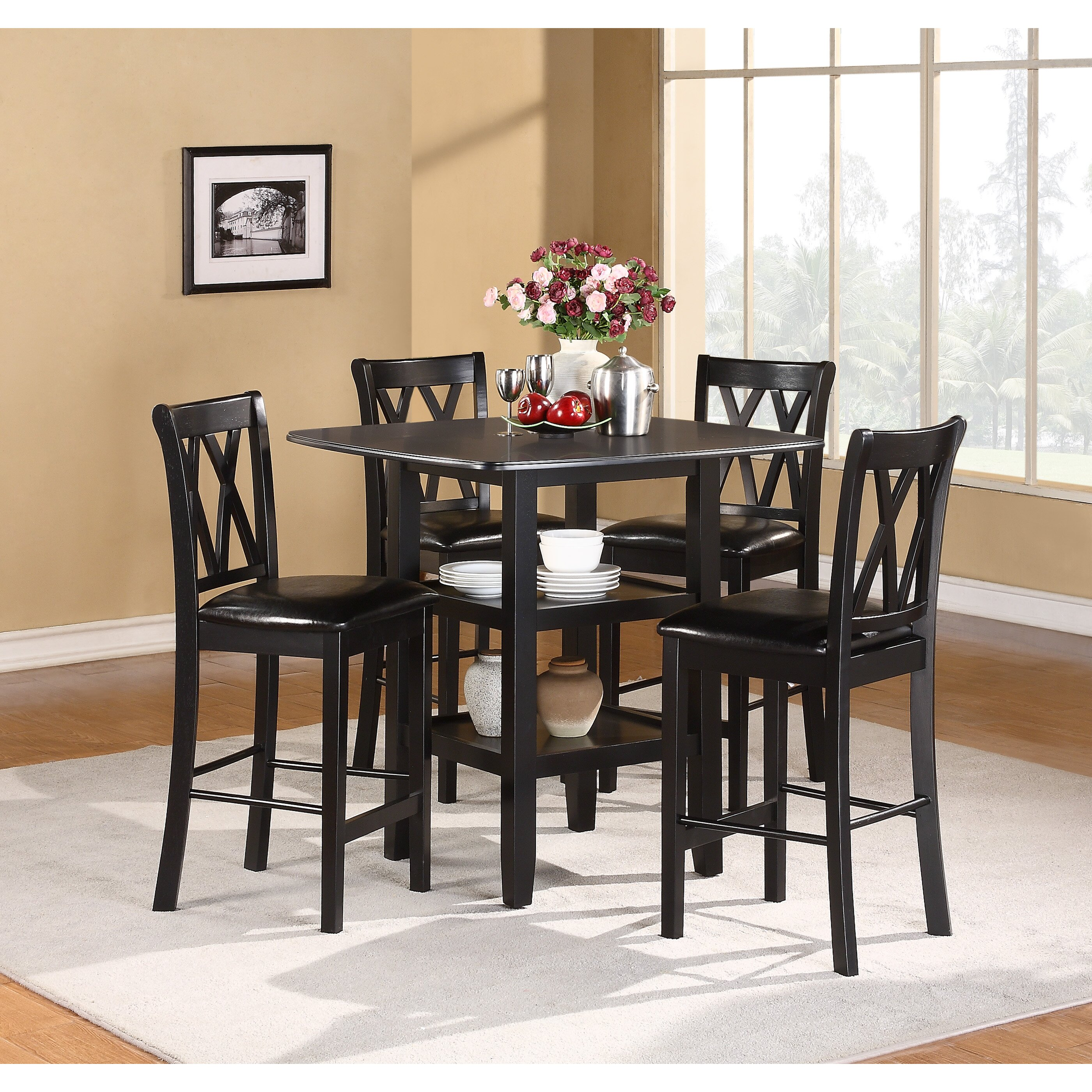 Counter Height Dining Tables: Woodhaven Hill Norman 5 Piece Counter Height Dining Set