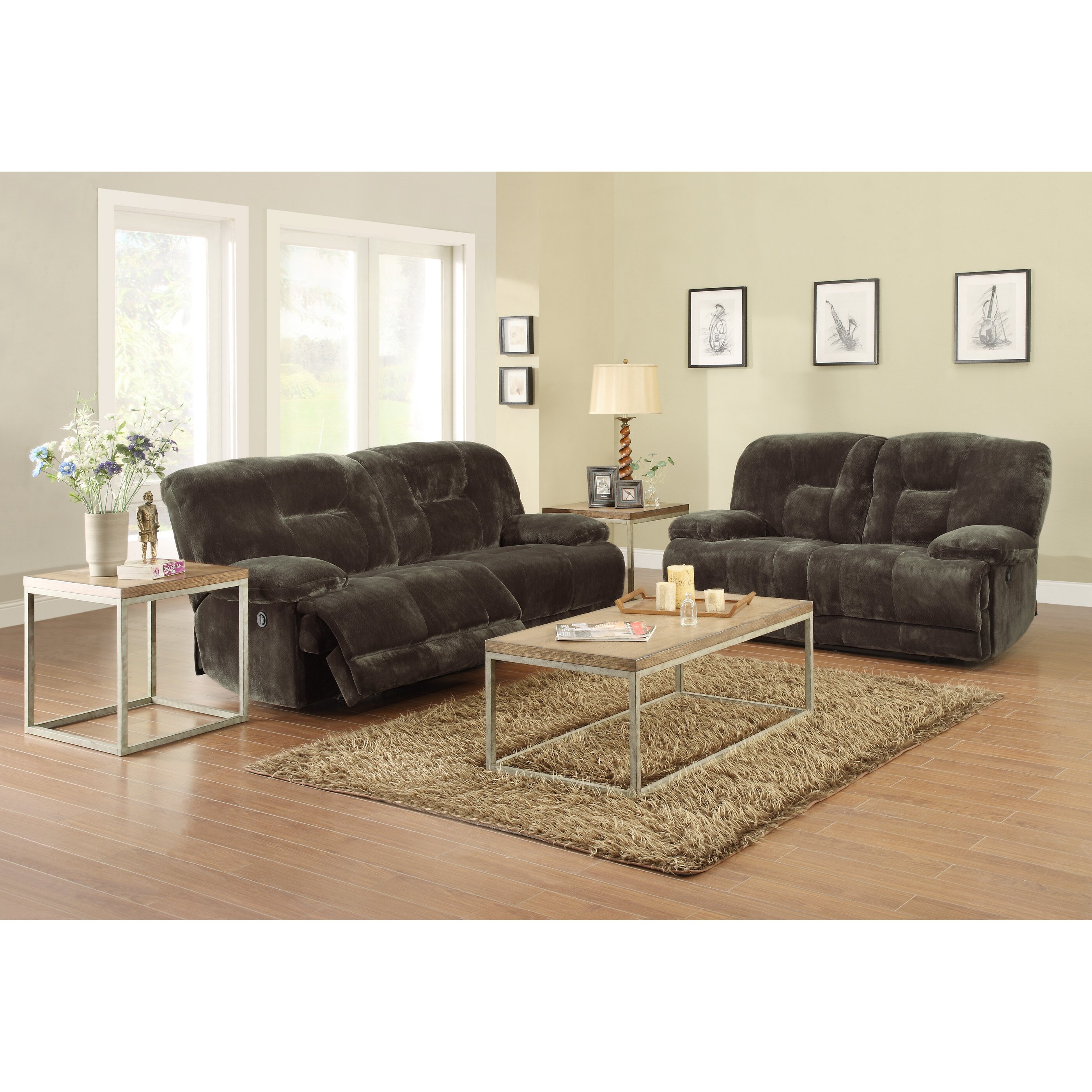 Woodhaven Hill Geoffrey Double Reclining Sofa Reviews Wayfair