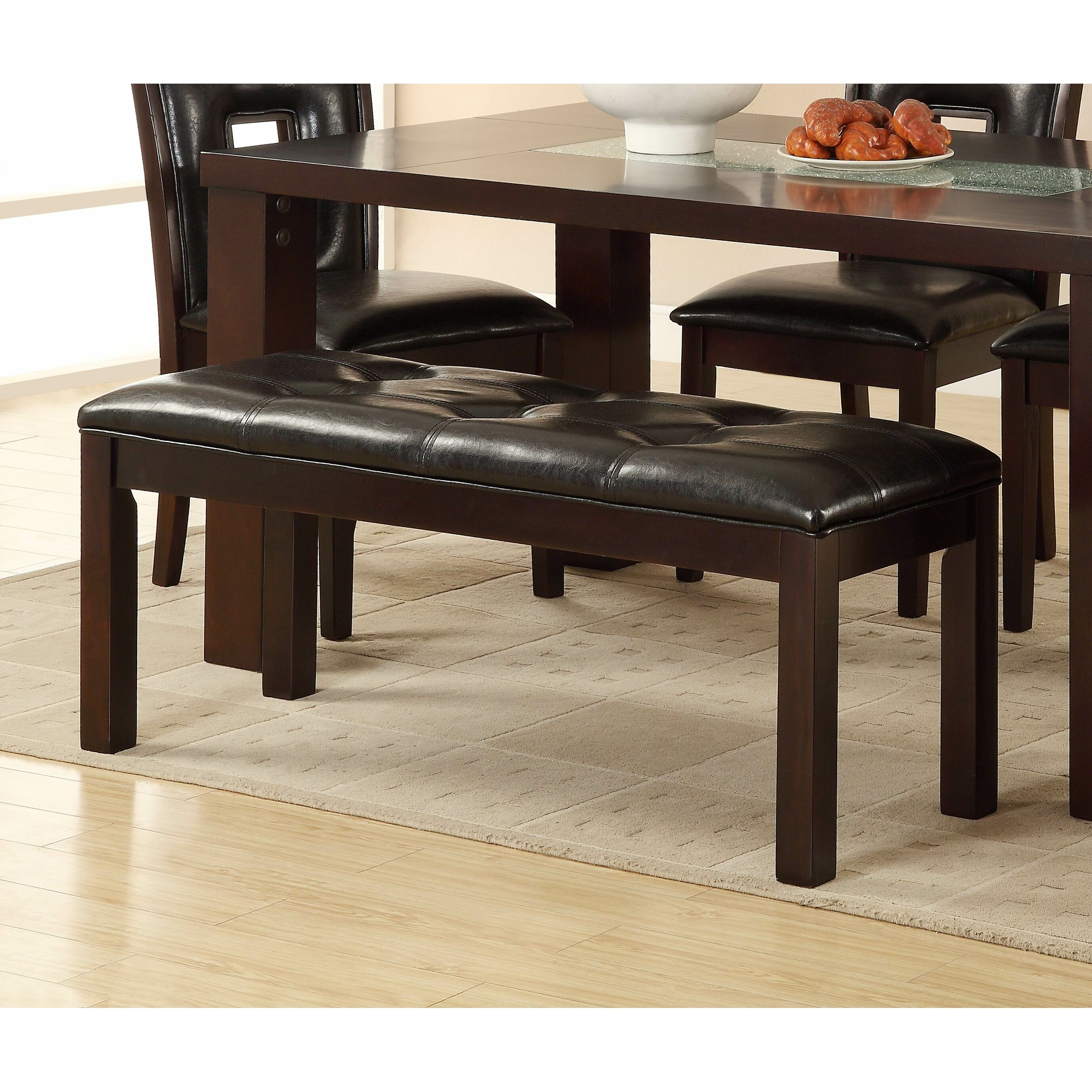 Woodhaven Hill Lee Upholstered Kitchen Bench & Reviews