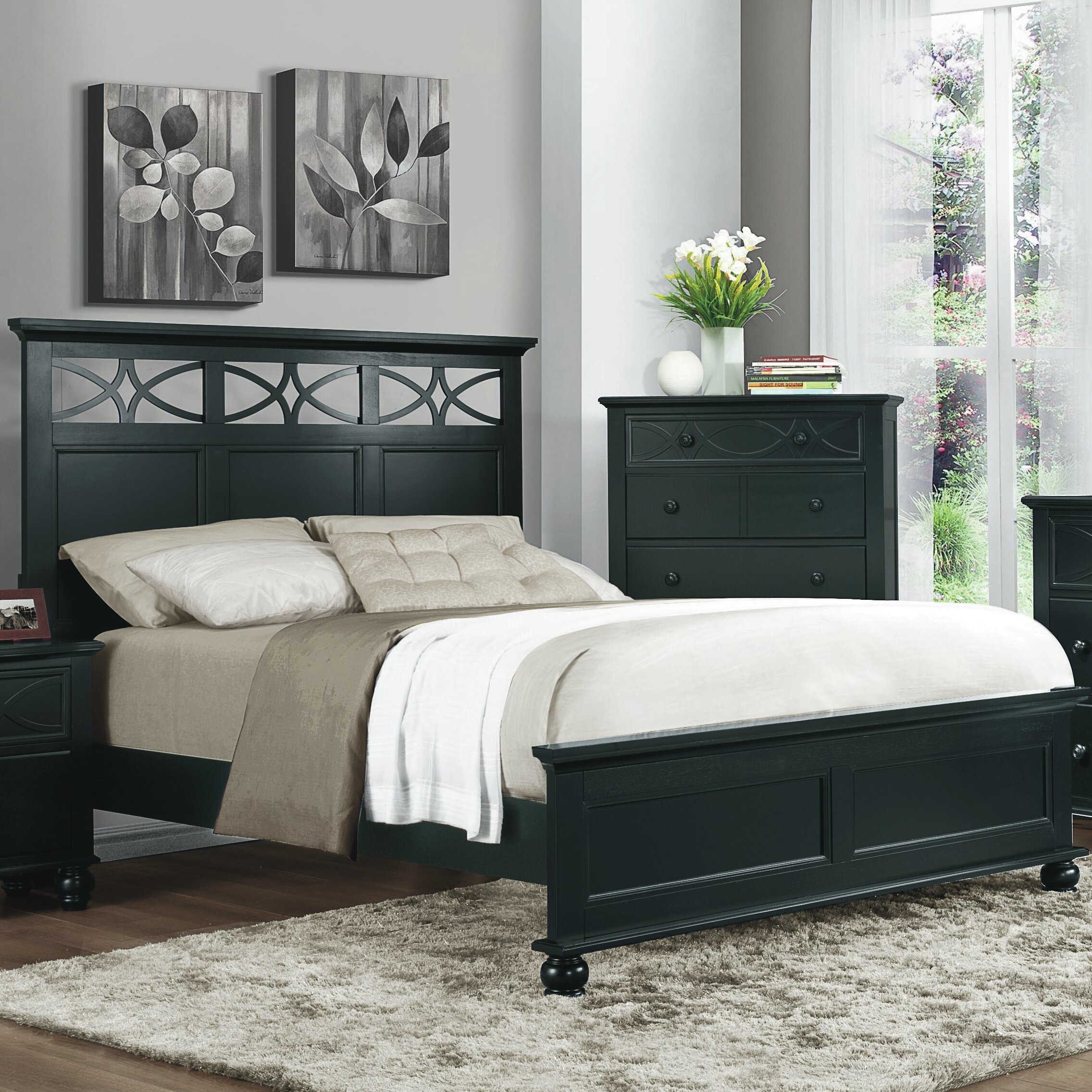 woodhaven hill sanibel panel customizable bedroom set