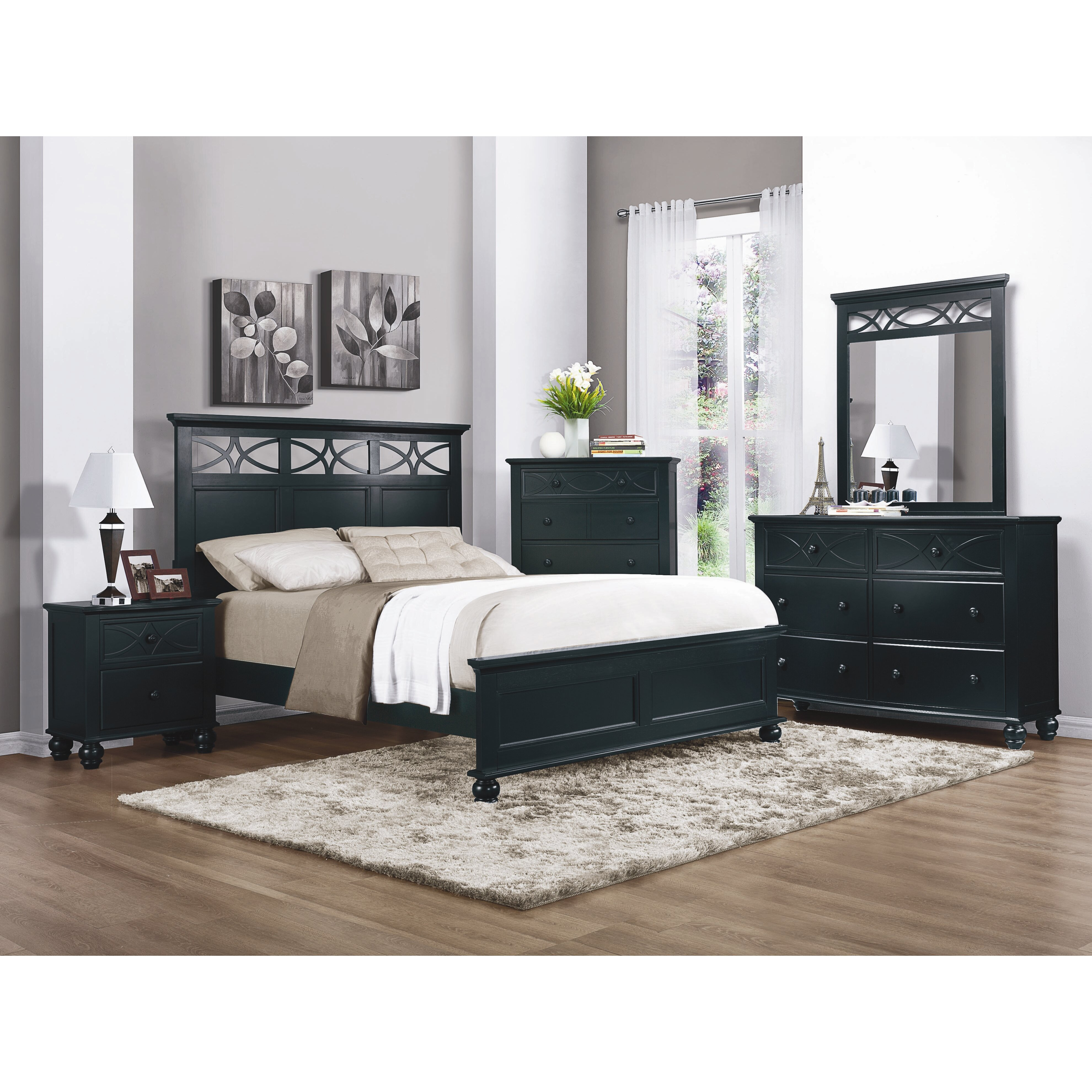 woodhaven hill sanibel panel customizable bedroom set