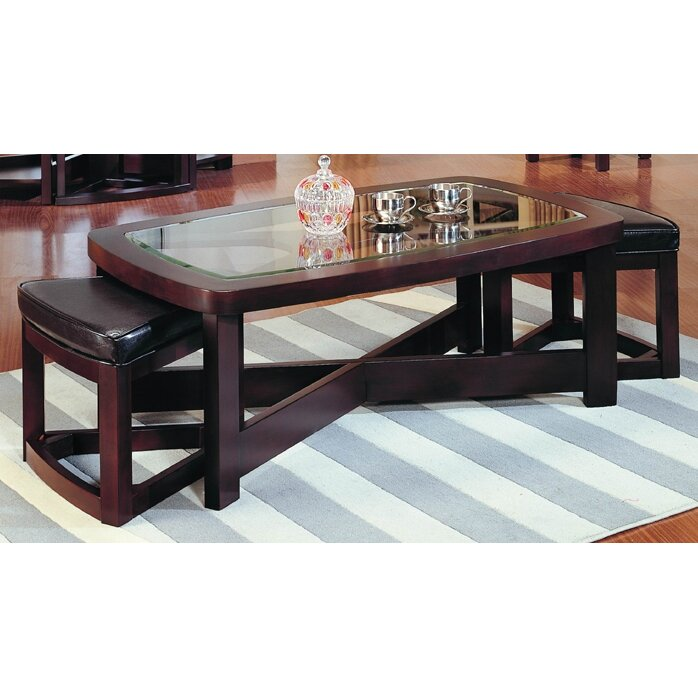 Woodhaven Hill 3219 Series Coffee Table With 2 Ottomans Reviews