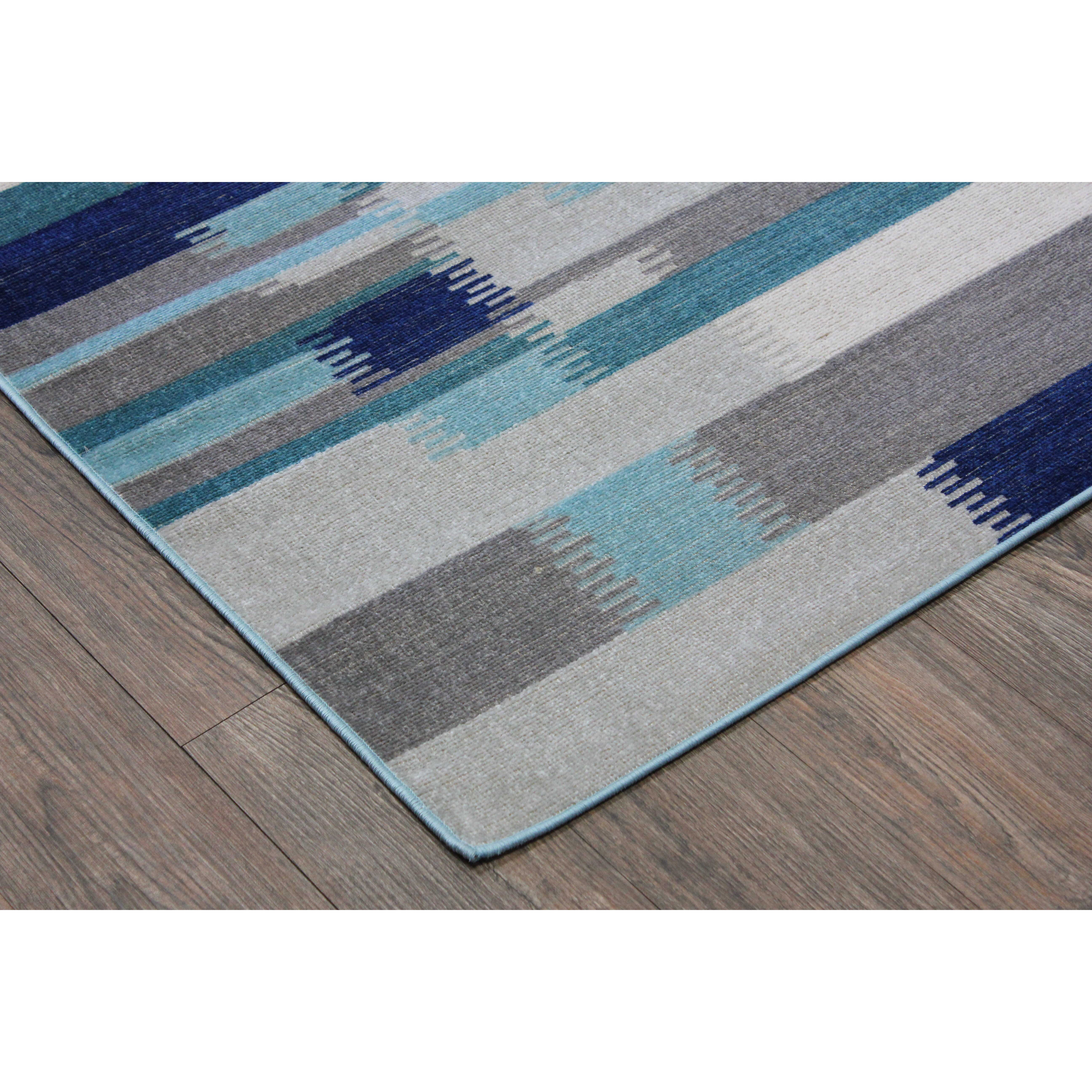 Rug Factory Plus Kilim Blue / Teal Area Rug
