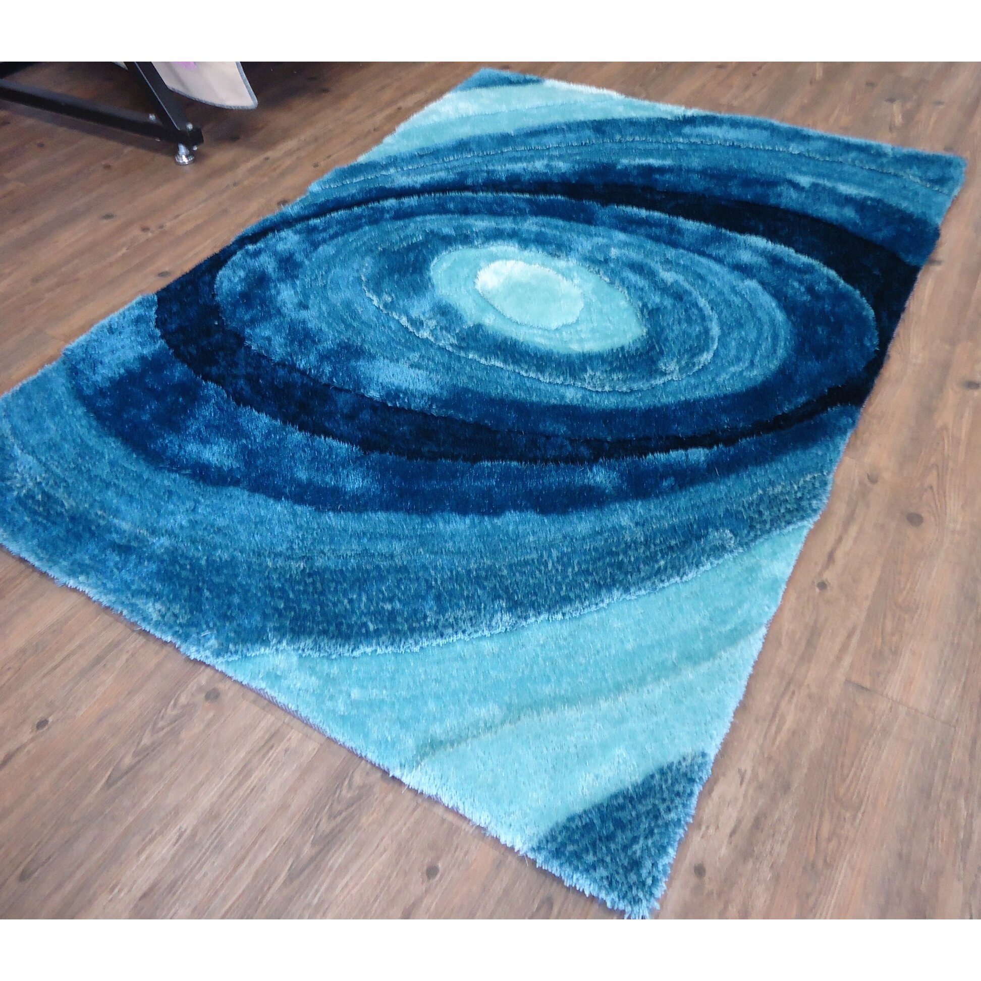 Rug Factory Plus Hand-Tufted Turquoise Area Rug