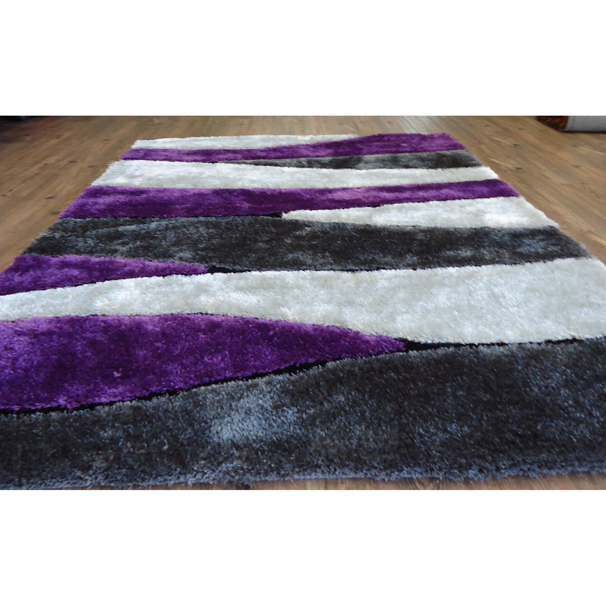 Rug Factory Plus Hand Tufted Gray Purple Area Rug Wayfair