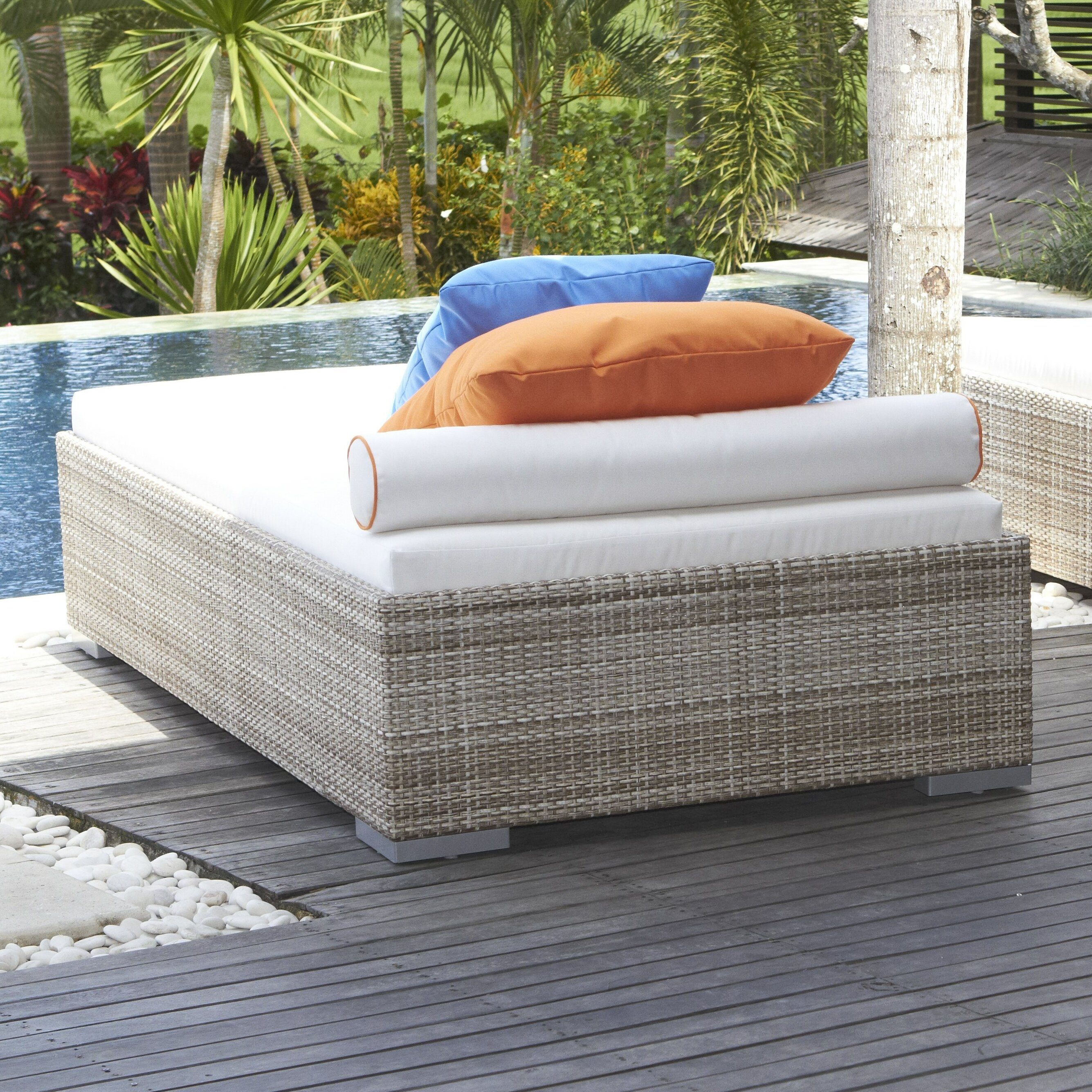Dann foley brentwood chaise lounge with cushion wayfair for Buy chaise lounge cushion