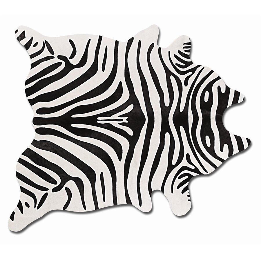 Natural Rugs Togo Black/Off-White Zebra Rug & Reviews