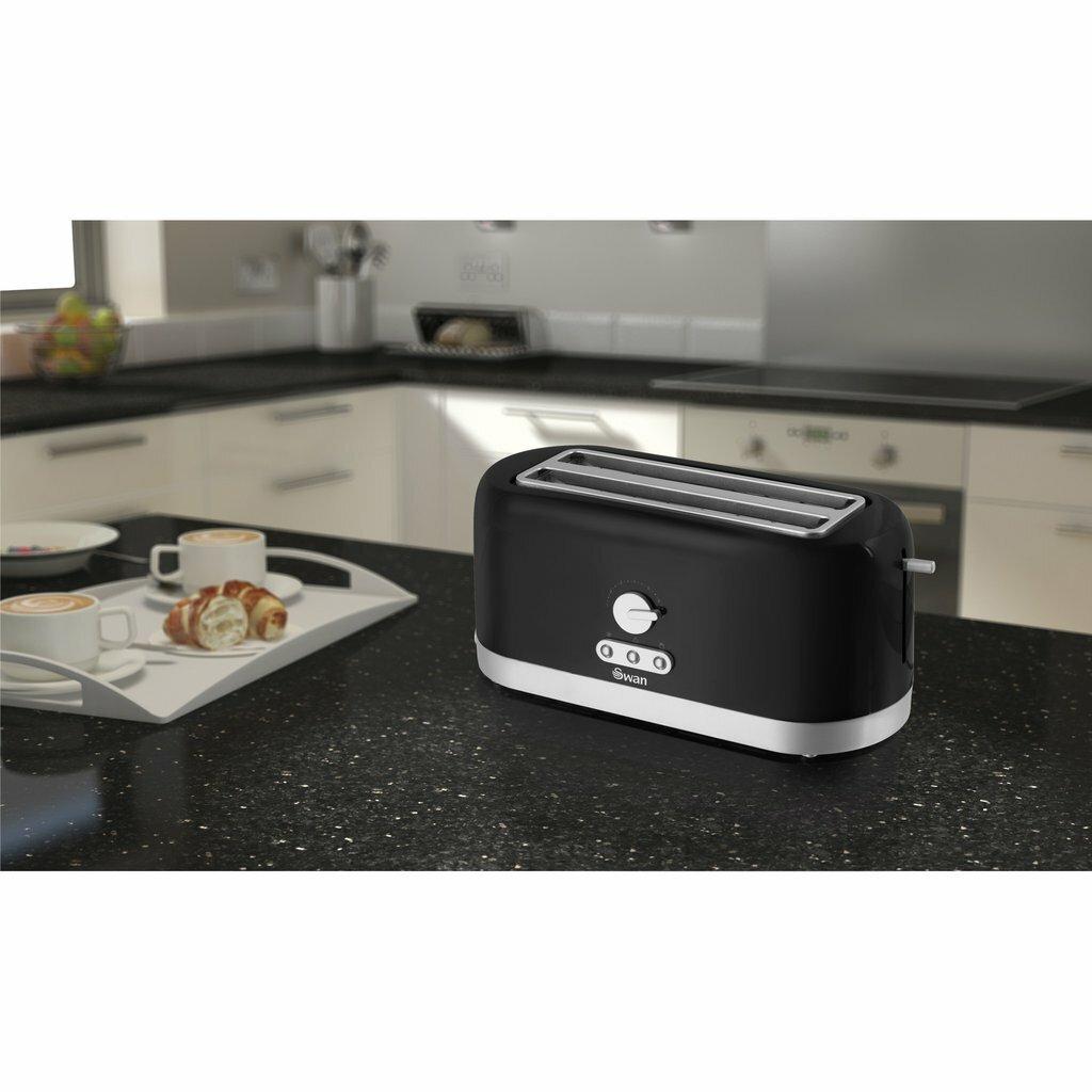Glass Toaster 4 Slice ~ Swan slice longslot toaster wayfair uk