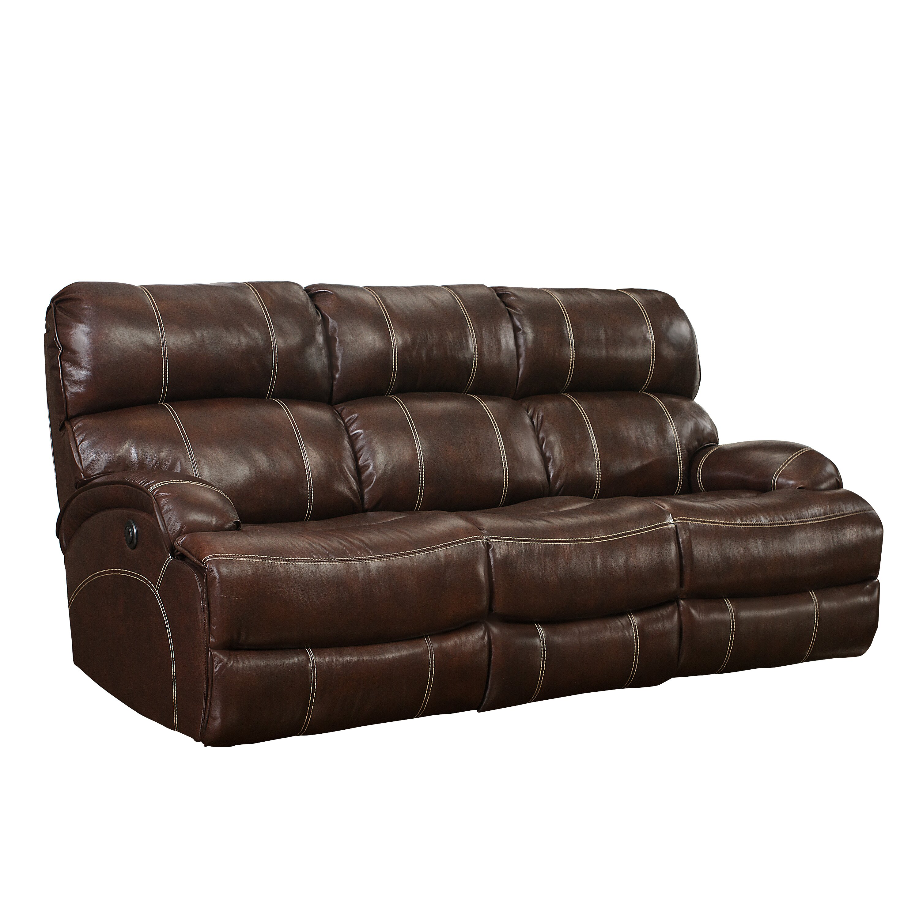 Barcalounger barcla casual comforts power leather sofas for Casual couch