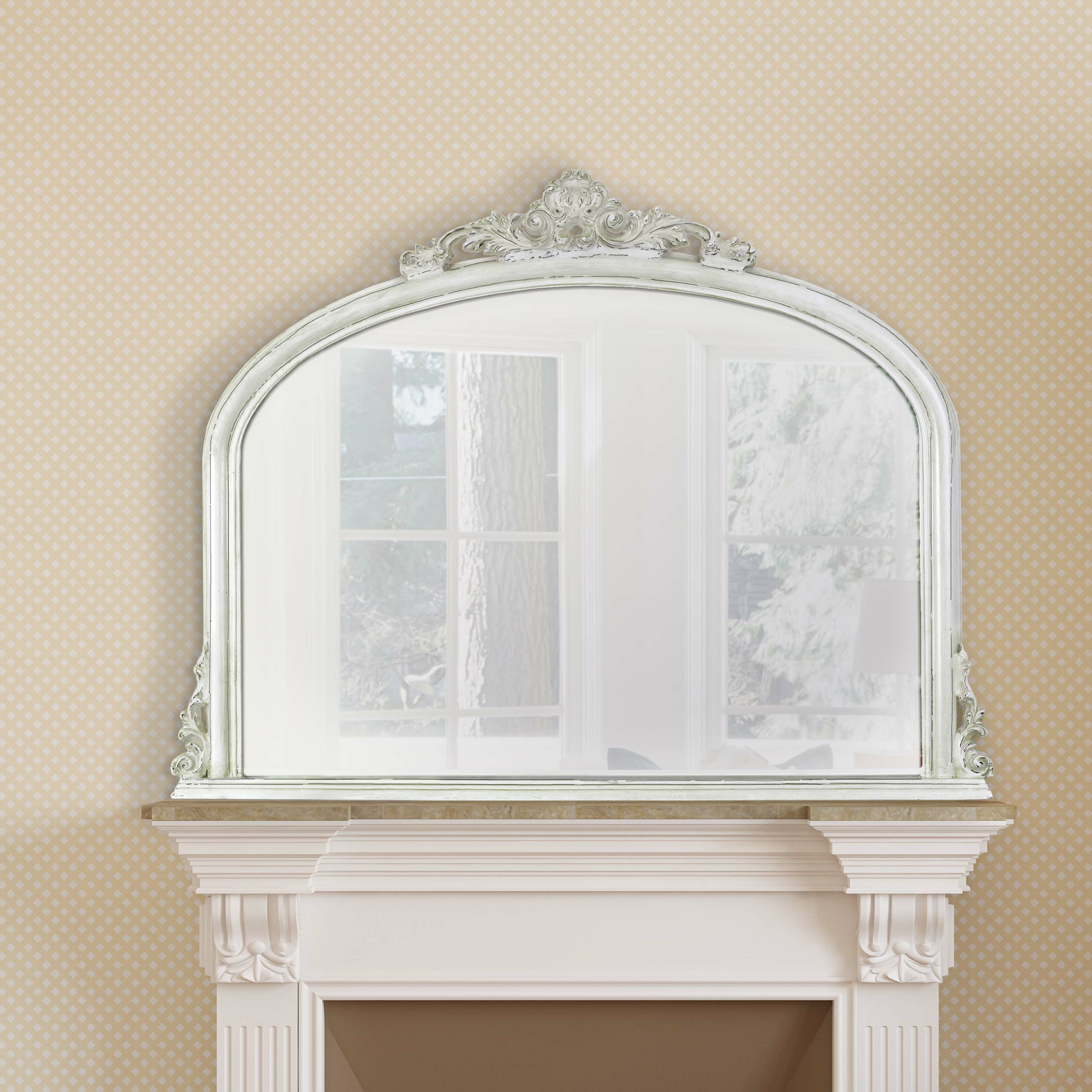 Selections by chaumont amarone over mantle mirror for Mantle mirror
