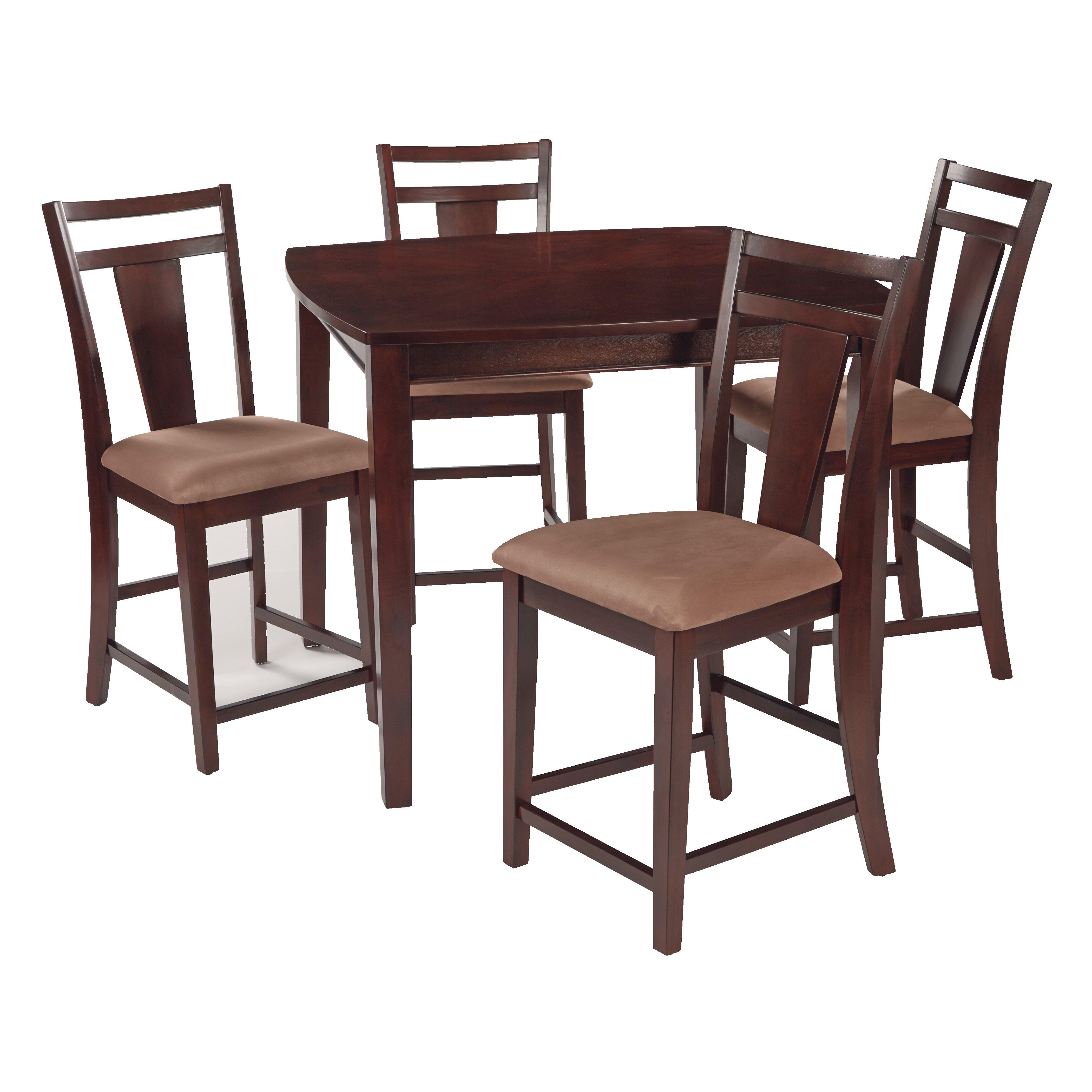 osp designs brentwood 5 piece pub table set reviews wayfair. Black Bedroom Furniture Sets. Home Design Ideas