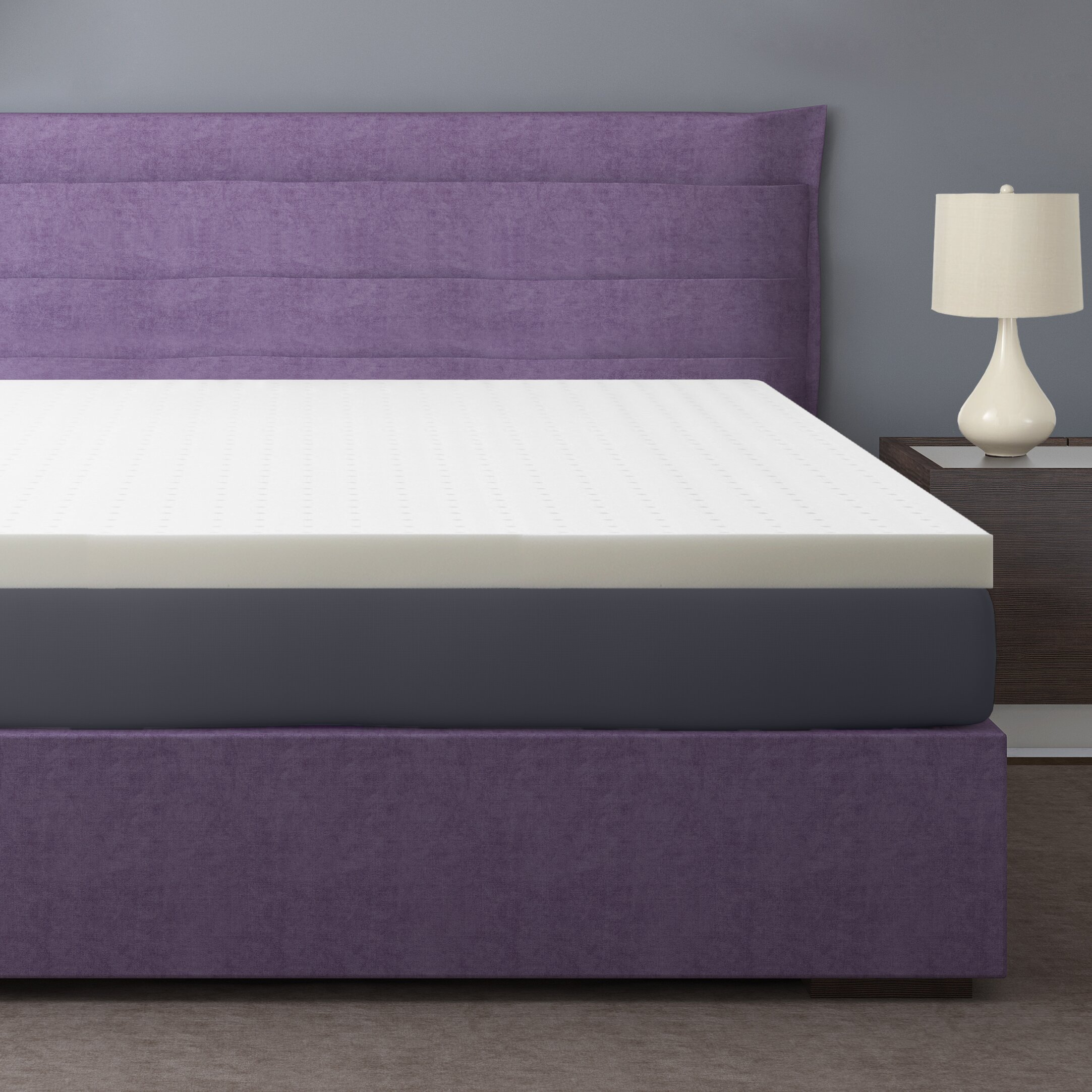 Best Price Quality Premium 3 Ventilated Memory Foam Mattress Topper Reviews Wayfair