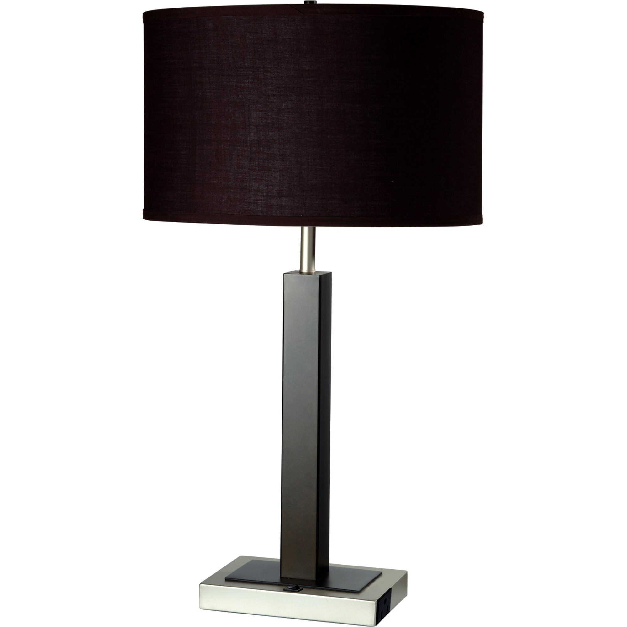 """Buy Antiqued Glass Coffee Table Gun Metal Base At Fusion: ORE Furniture Convenient Outlet 26"""" Table Lamp & Reviews"""