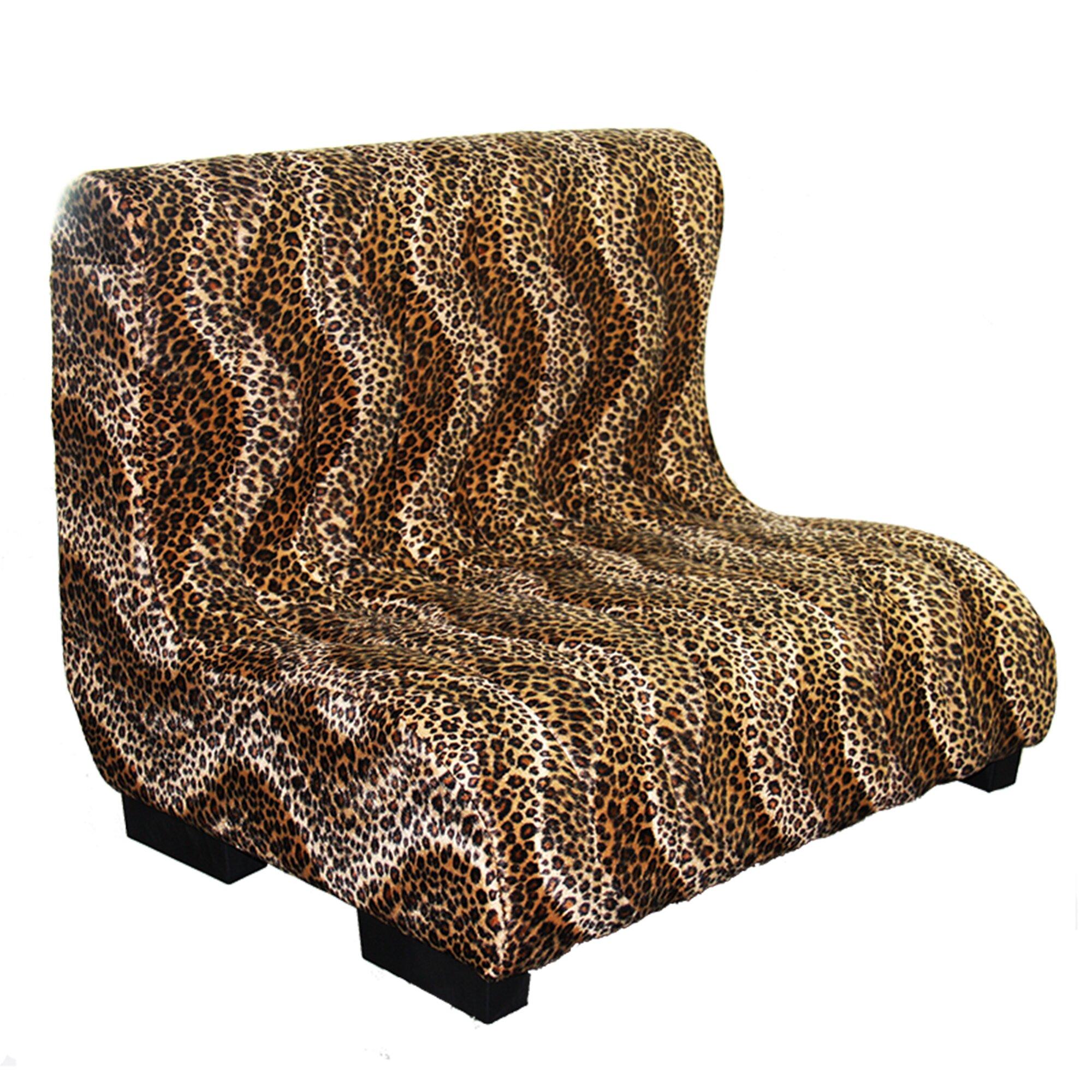Ore furniture upholstered plush leopard tufted dog bed for Upholstered dog bed