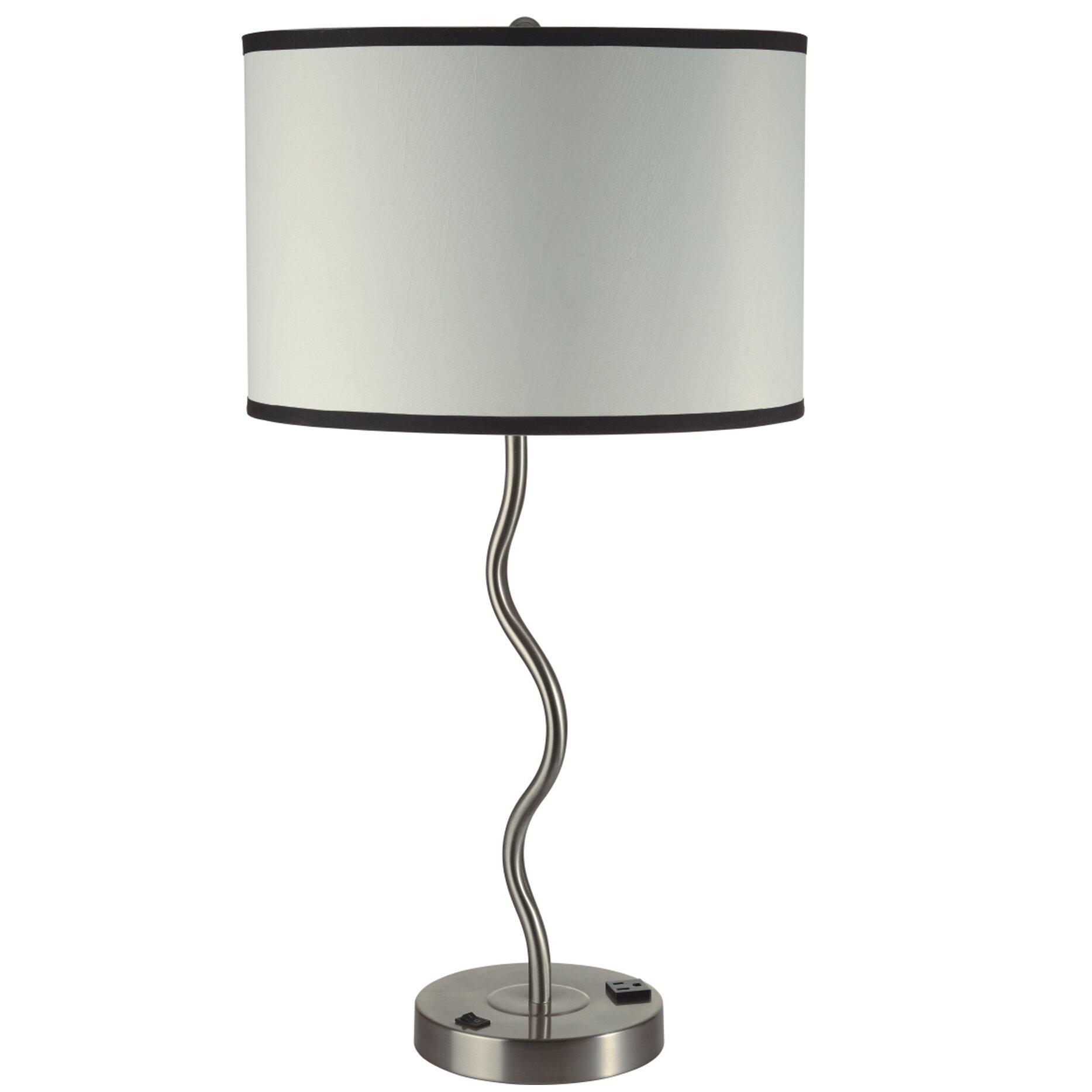 ore furniture wave 28 table lamp reviews wayfair. Black Bedroom Furniture Sets. Home Design Ideas