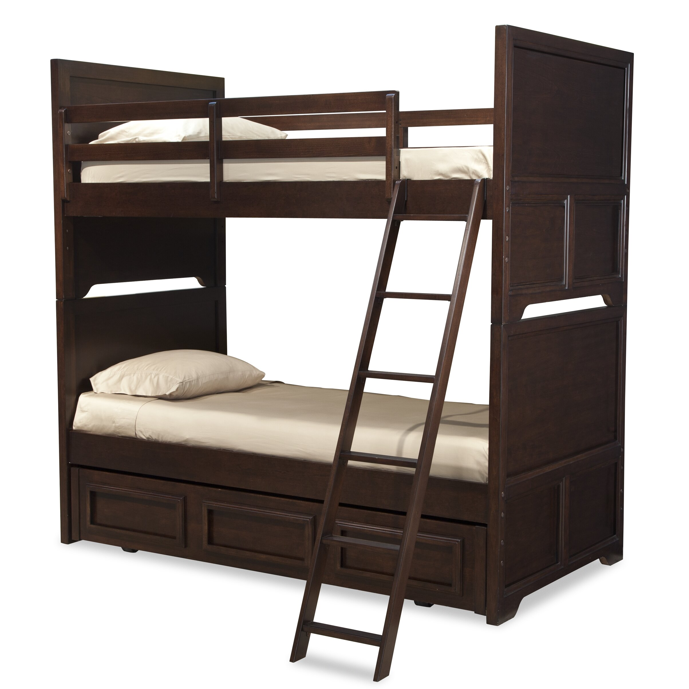 Lc Kids Benchmark Twin Over Twin Standard Bunk Bed With Underbed Storage Drawer Wayfair