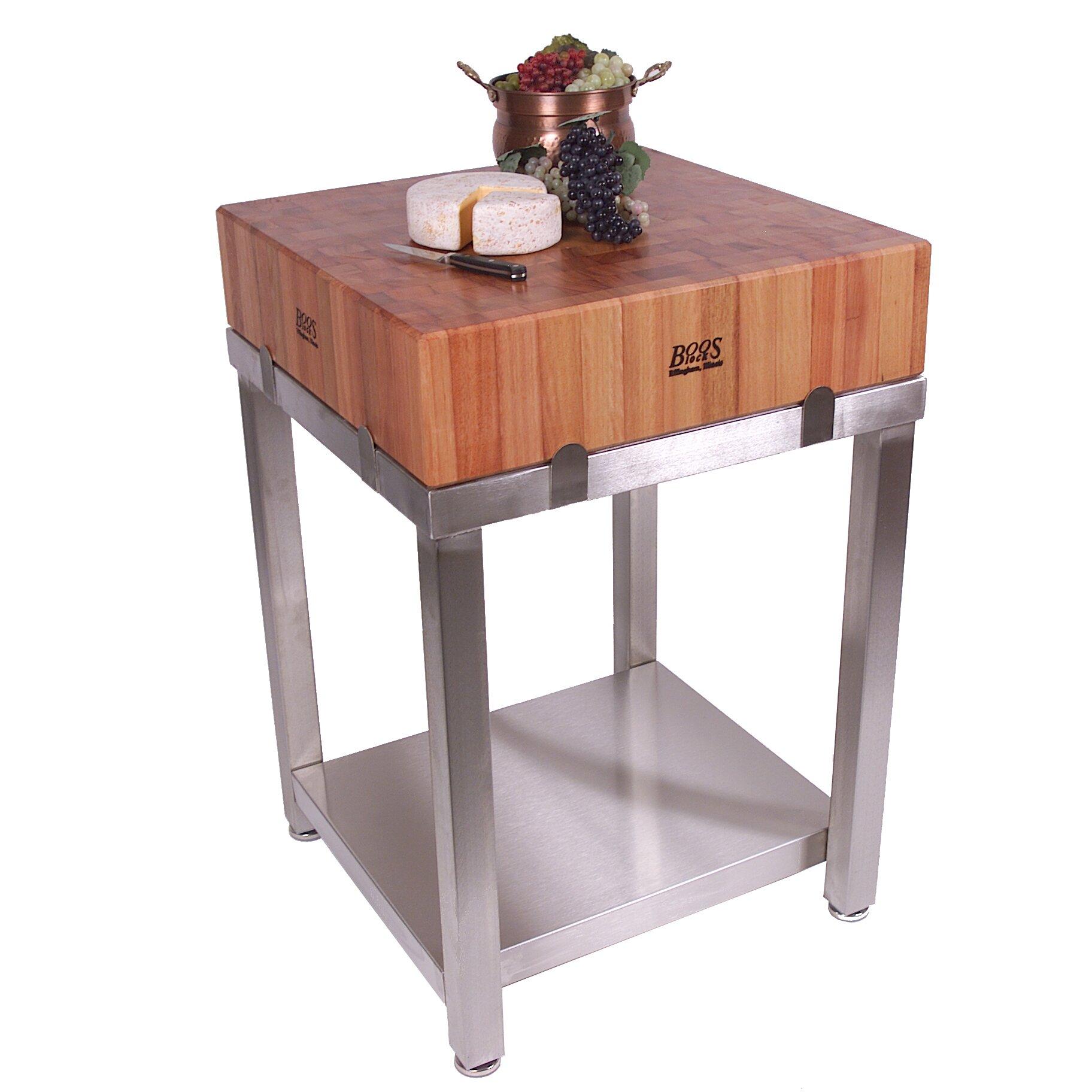 Butcher Block Kitchen Prep Table : John Boos Cucina Americana Laforza Prep Table with Butcher Block Top & Reviews AllModern