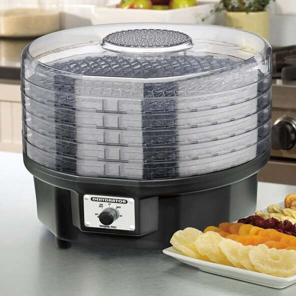 waring professional 5 tray food dehydrator reviews wayfair. Black Bedroom Furniture Sets. Home Design Ideas