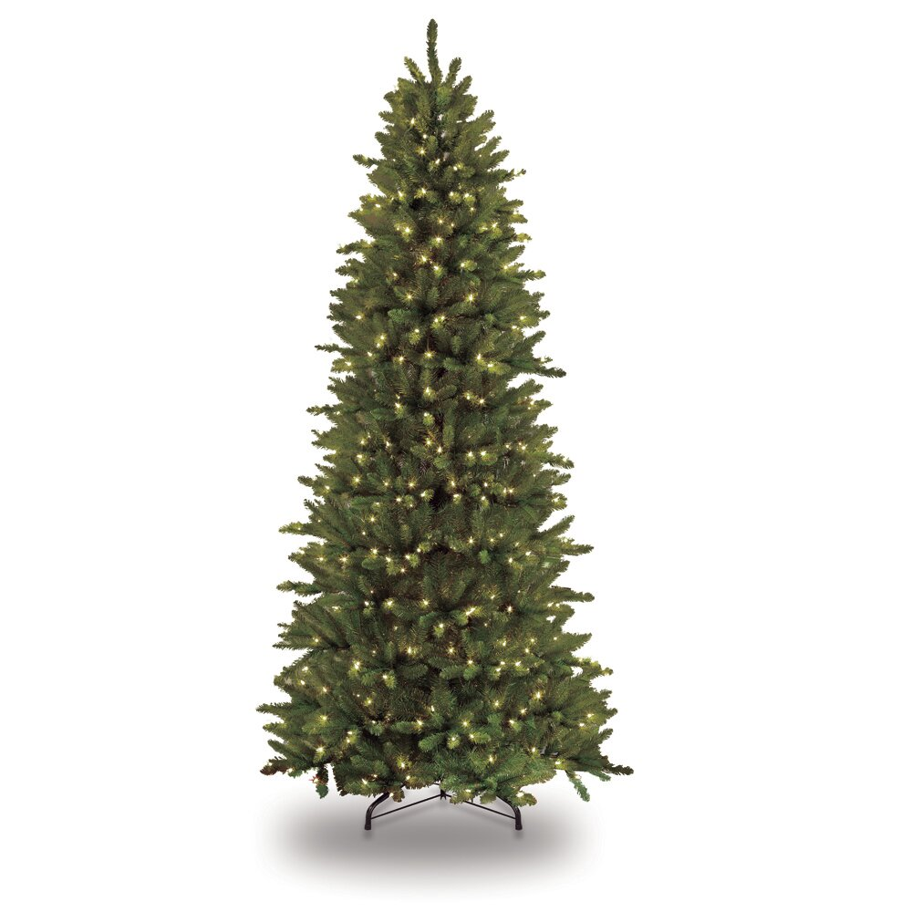 Puleo 7.5' Green Slim Artificial Christmas Tree With 500