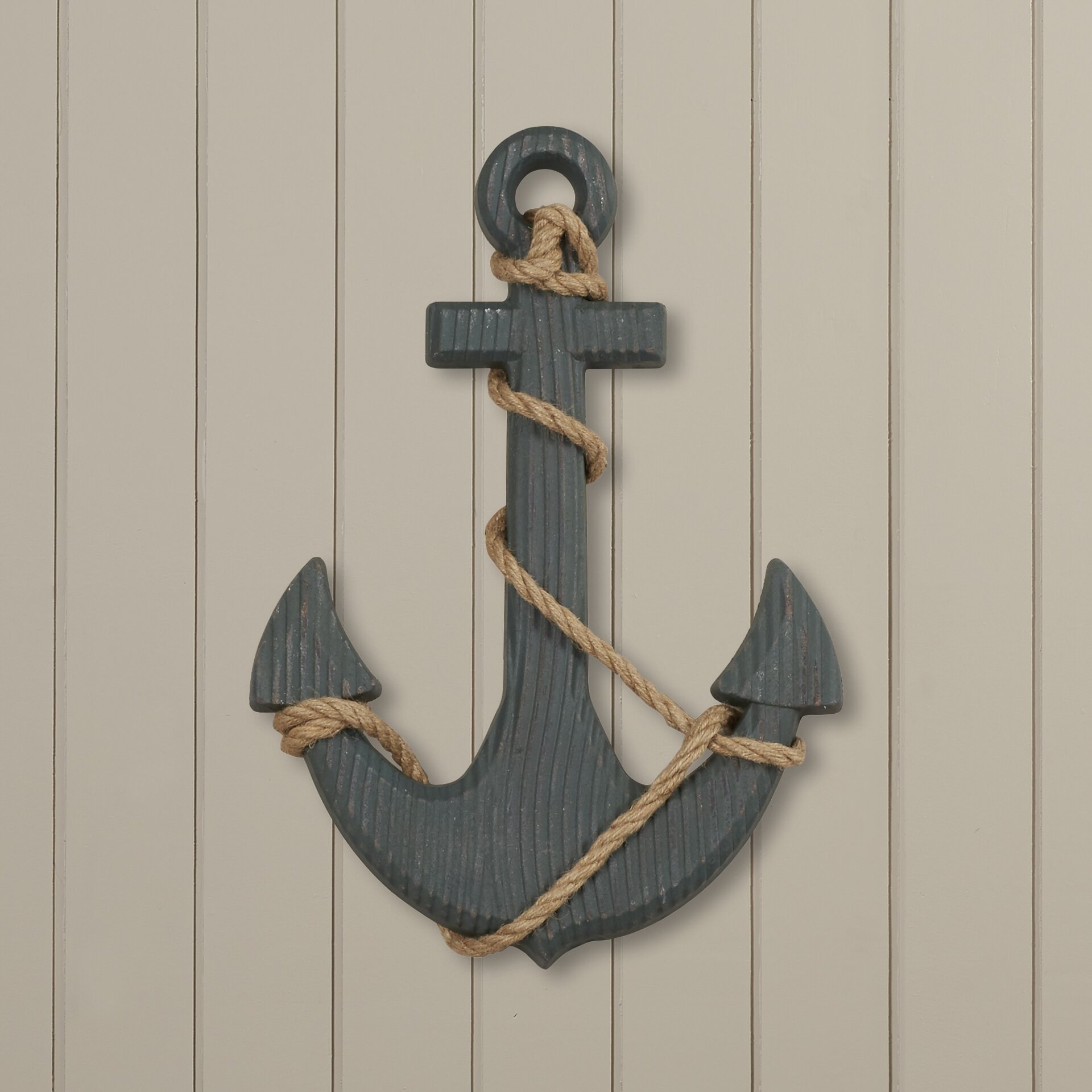 Wall Decor With Rope : Breakwater bay ship anchor and rope wall d?cor reviews