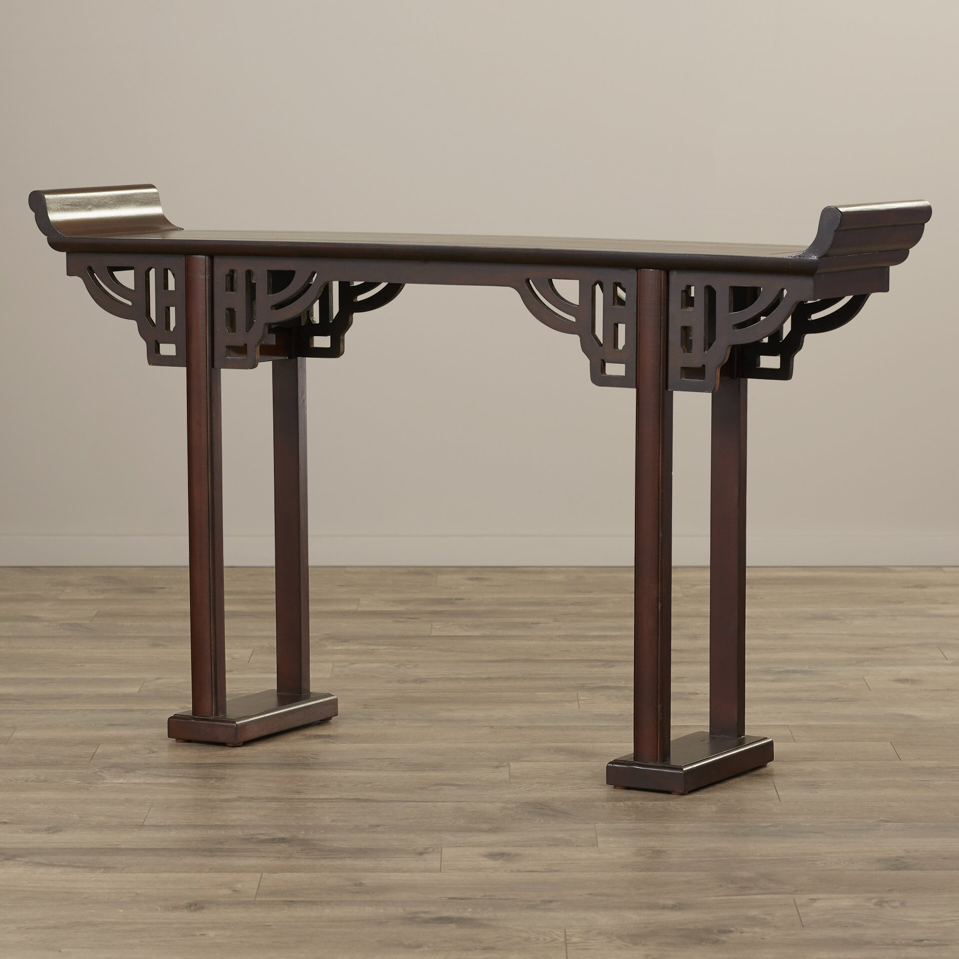 Solid Wood Sofa Table ~ World menagerie quot kale solid wood console table