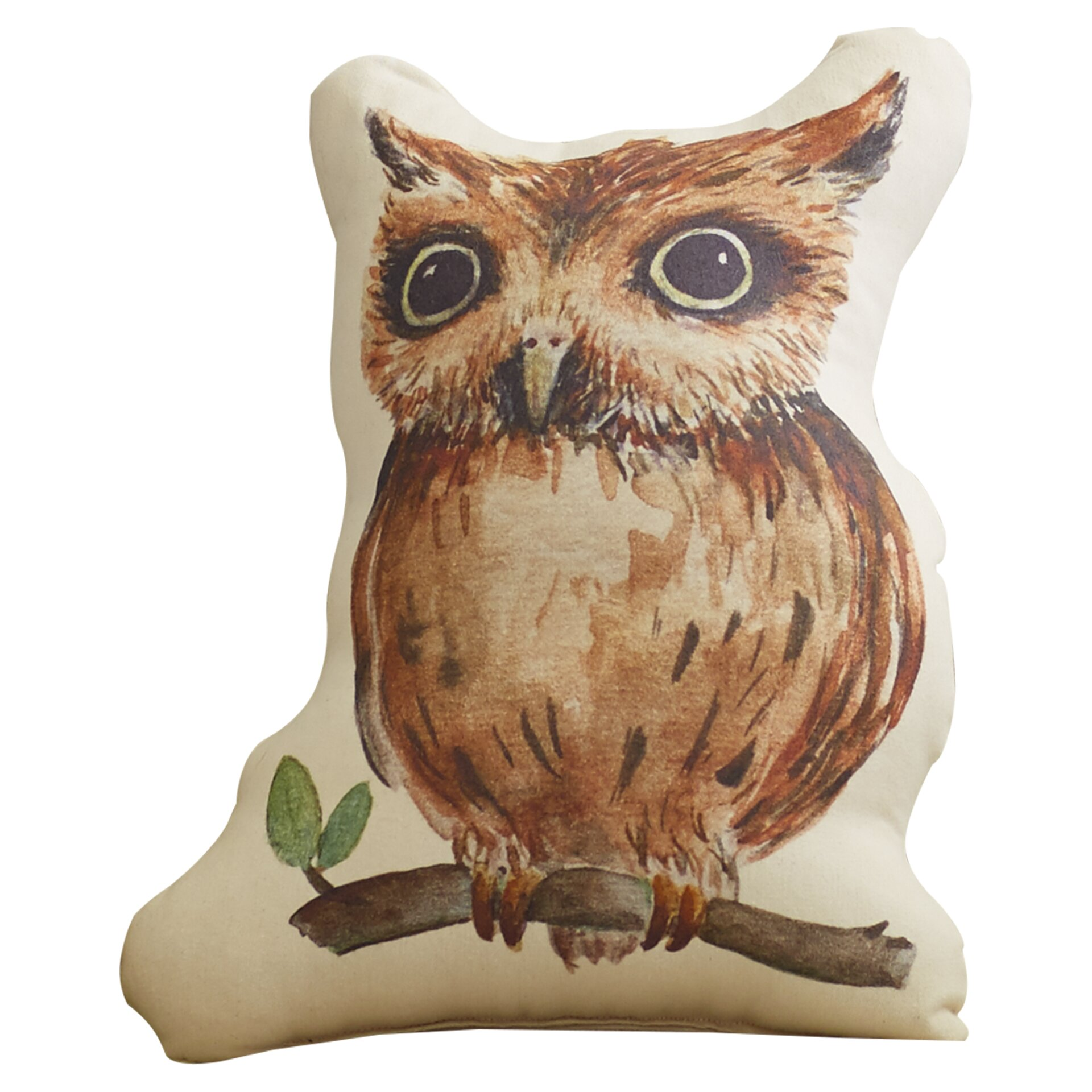 August Grove Dehlia Owl Plush Throw Pillow & Reviews Wayfair