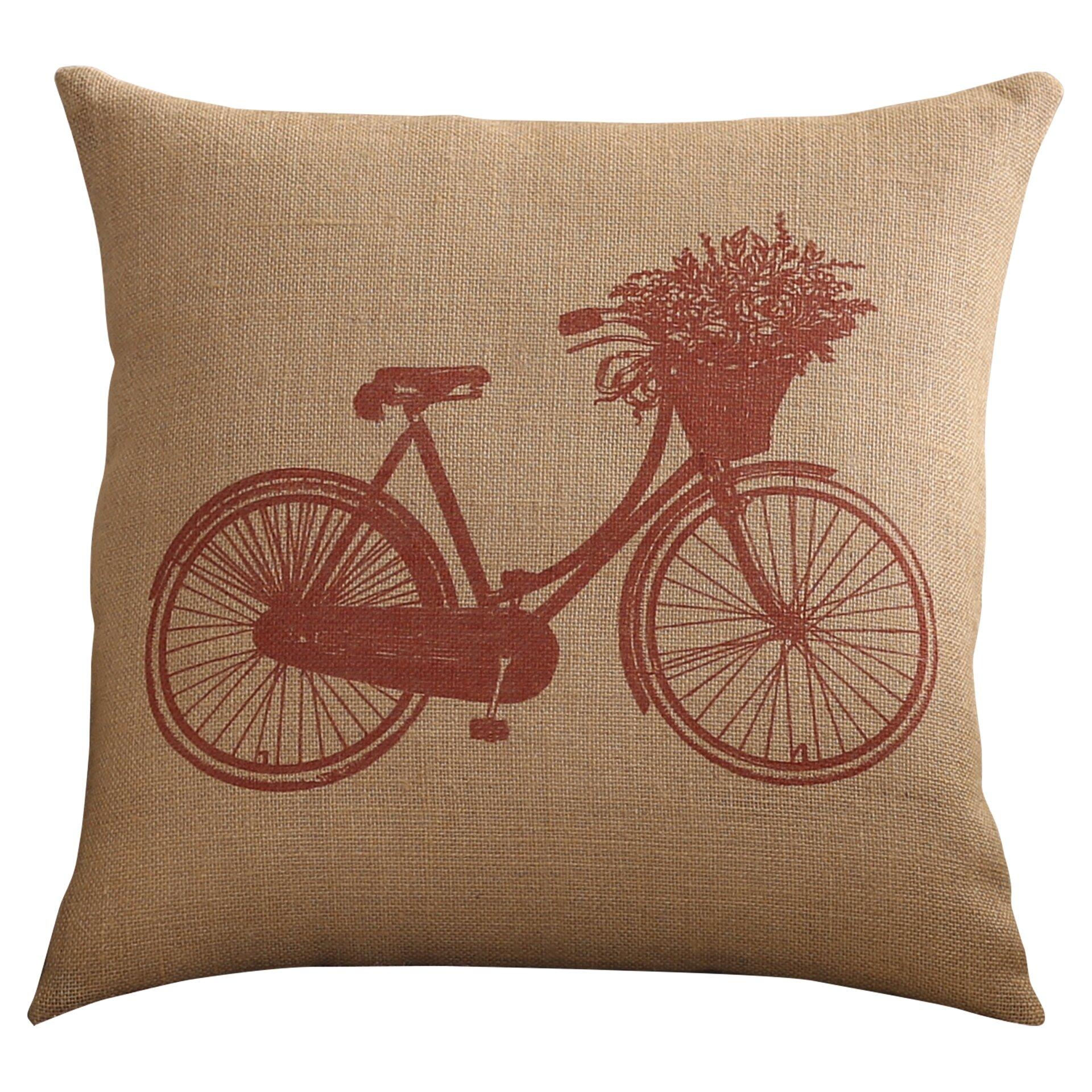 Alcott Hill Bike Throw Pillow & Reviews Wayfair.ca