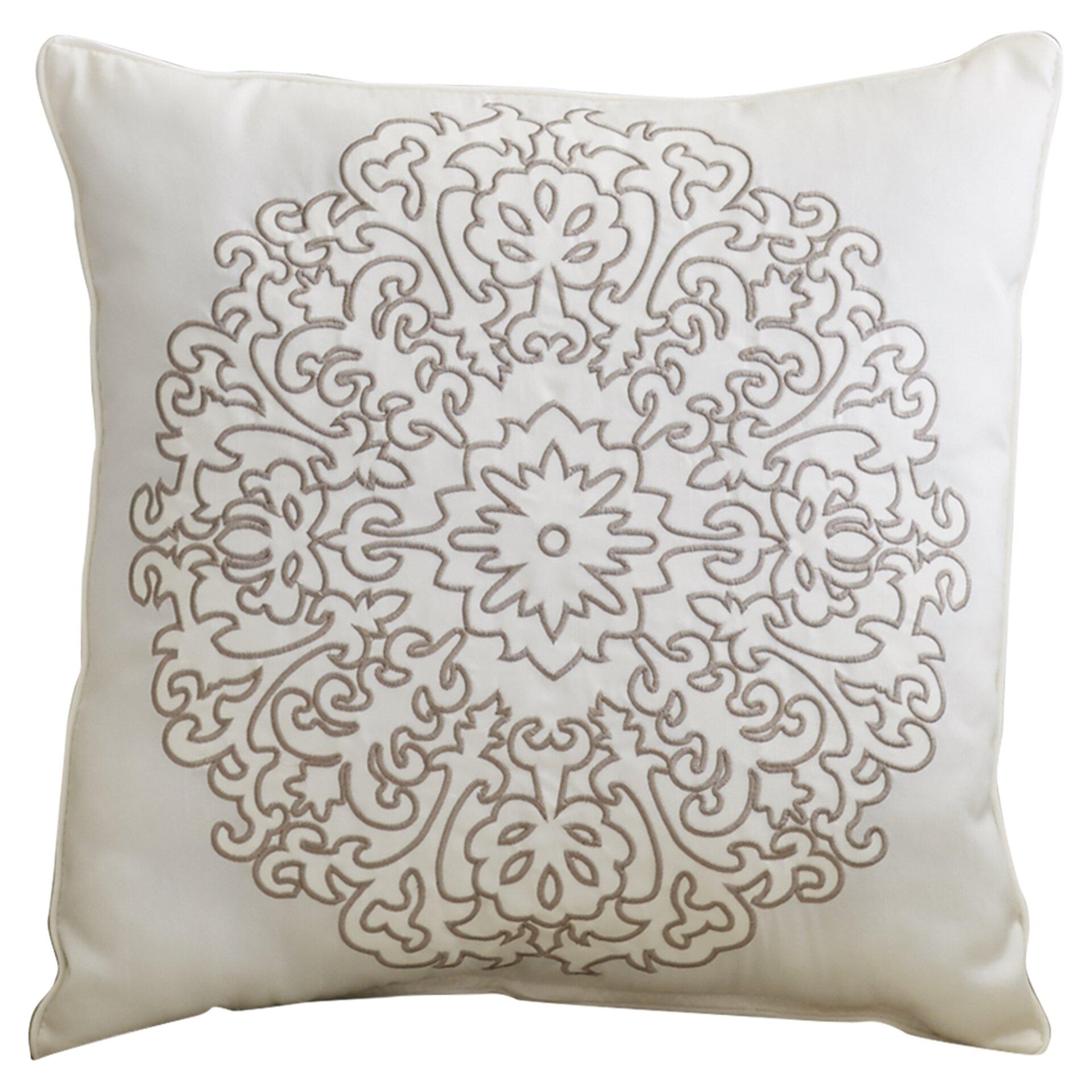 Embroidered Decorative Pillow : Alcott Hill Staverton Embroidered Decorative Throw Pillow & Reviews Wayfair