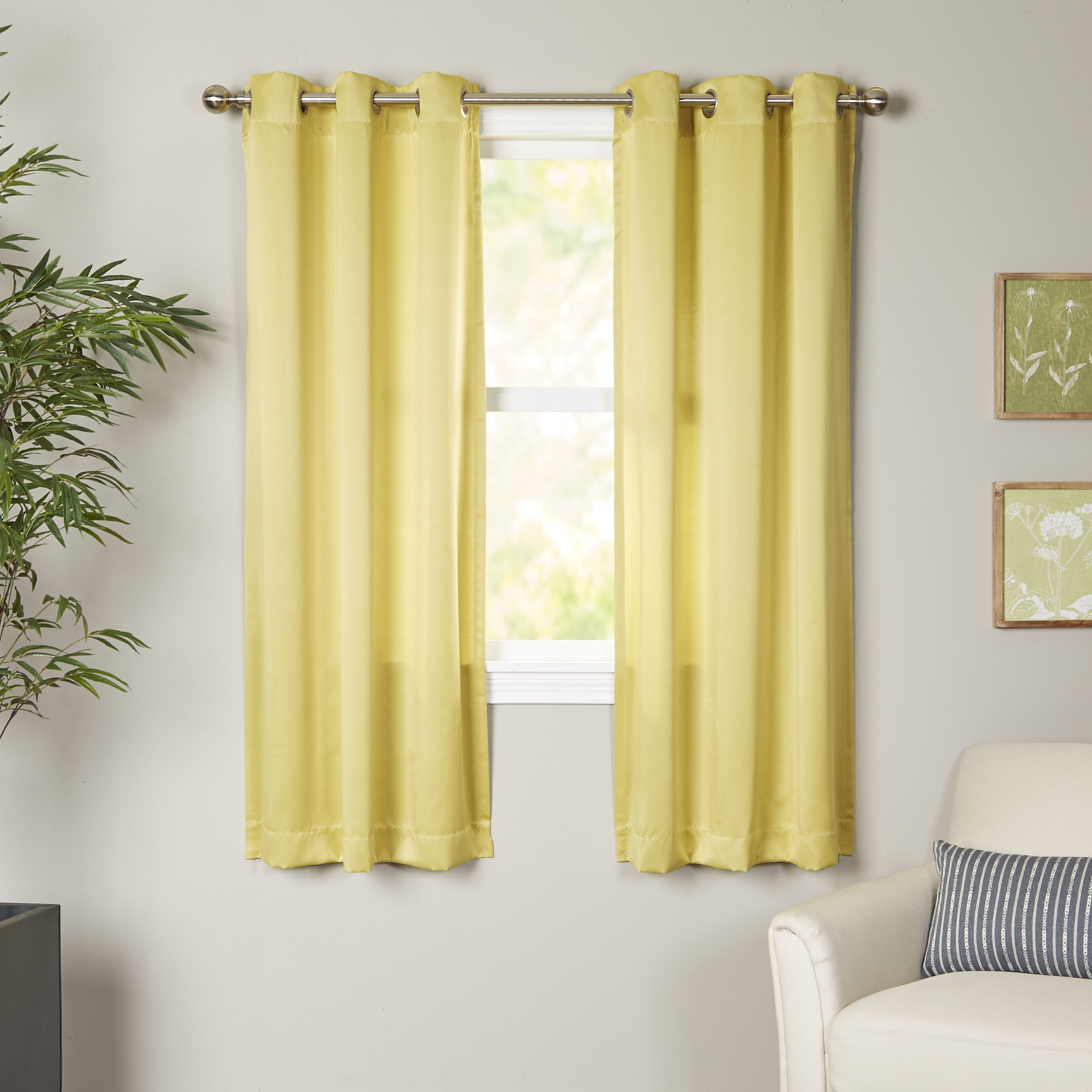 Wayfair Basics Wayfair Basics Grommet Single Curtain Panel Amp Reviews Wayfair