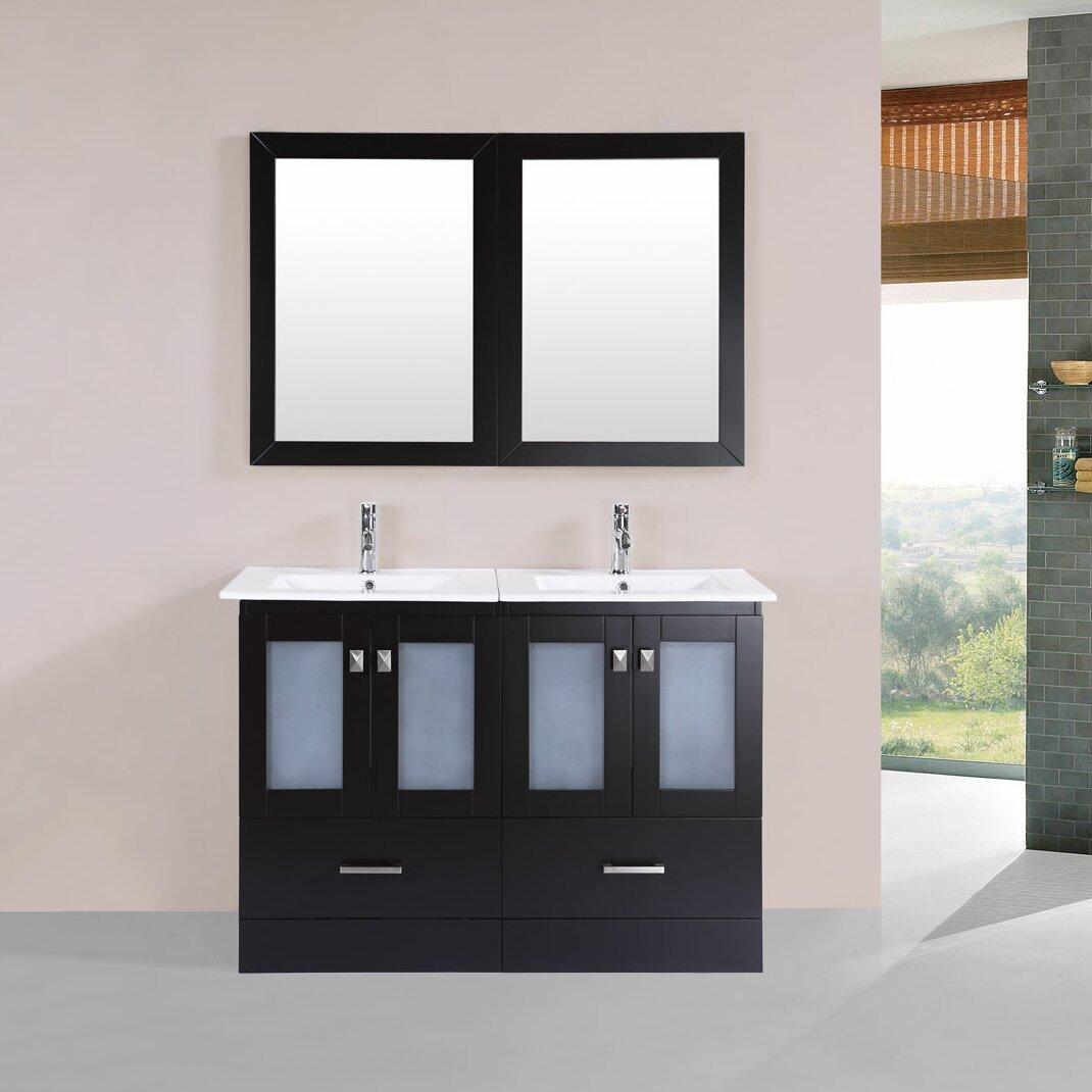 "PacificCollection Hermosa 48"" Double Modern Bathroom"