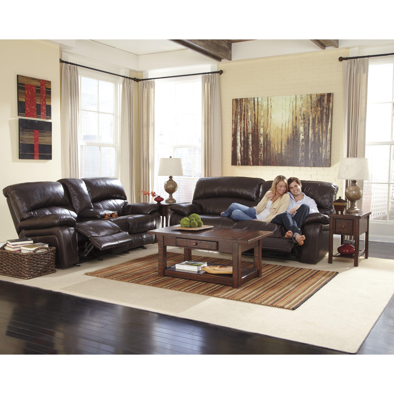 Signature Design By Ashley Dormont Double Seat Power Reclining Sofa Reviews Wayfair