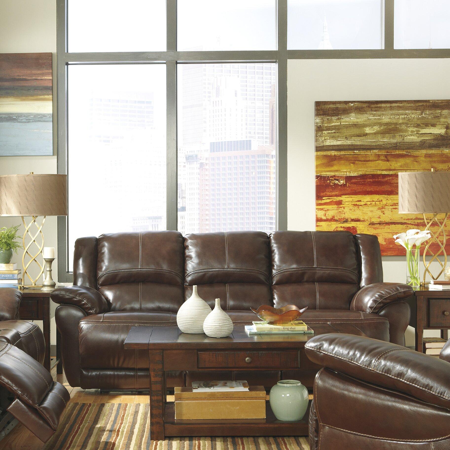 Signature Design By Ashley Mahoney Reclining Sofa Reviews Wayfair