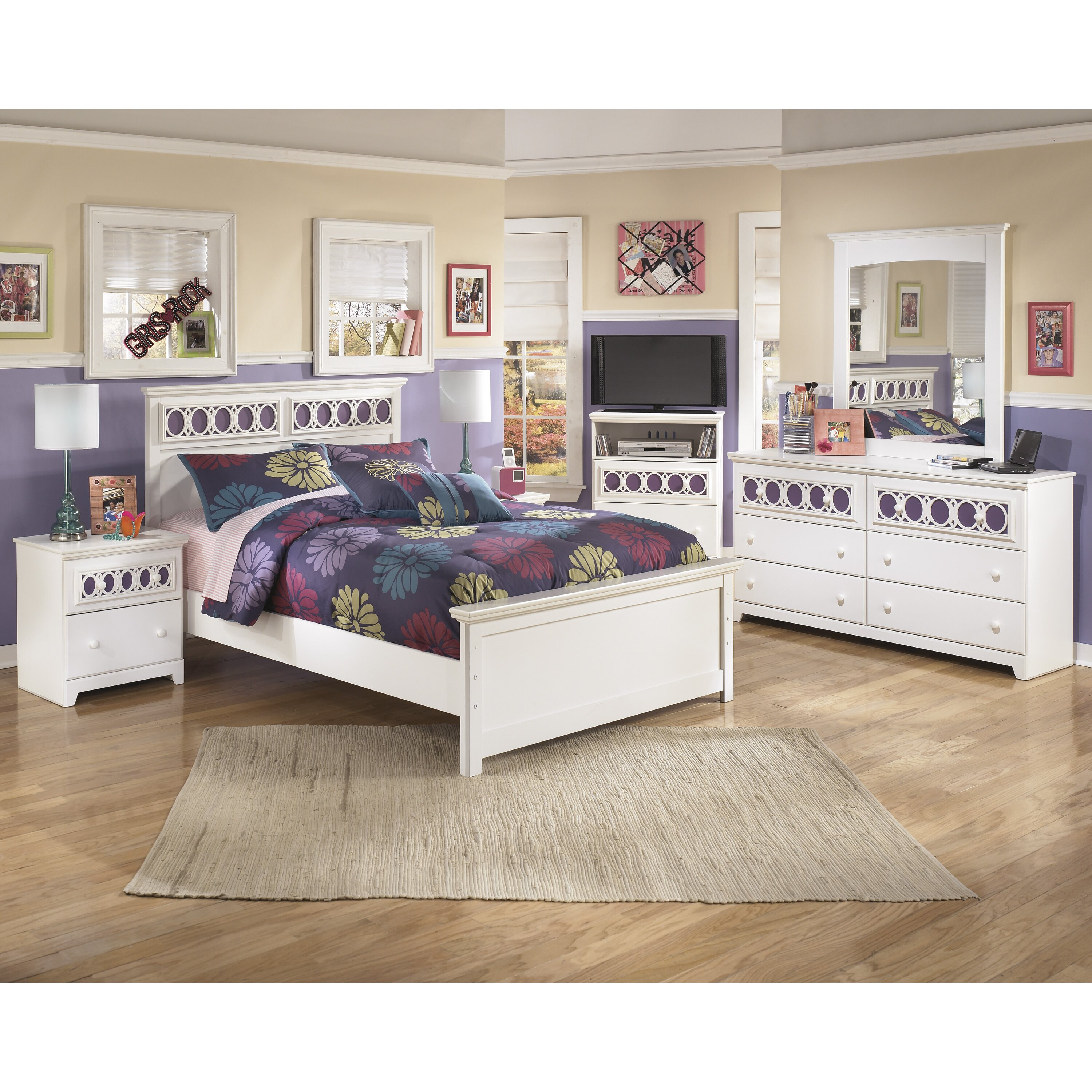 Ashley Home Furniture Bedroom Sets: Signature Design By Ashley Zayley Panel Customizable