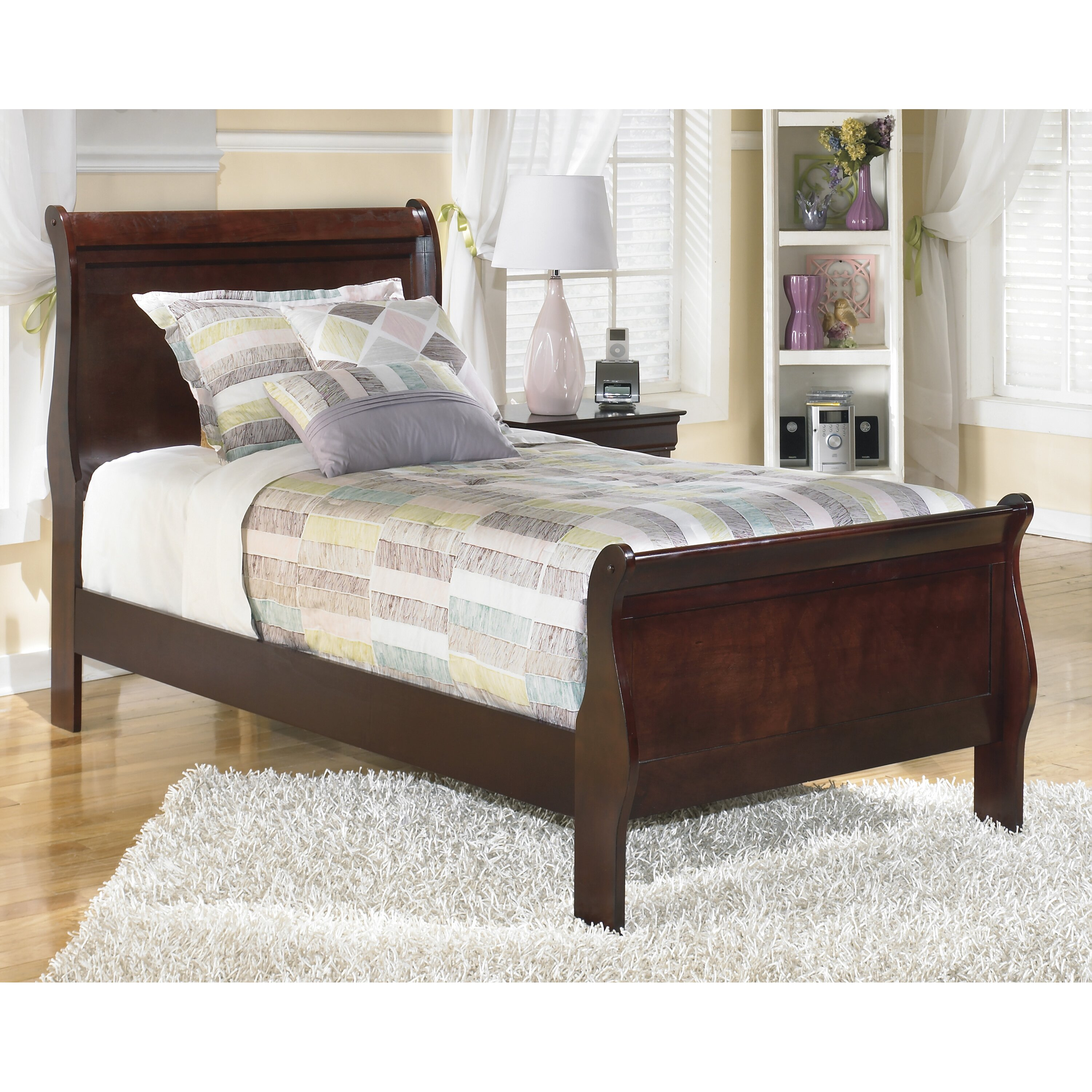 Signature design by ashley alisdair sleigh bed reviews for Double bed diwan set