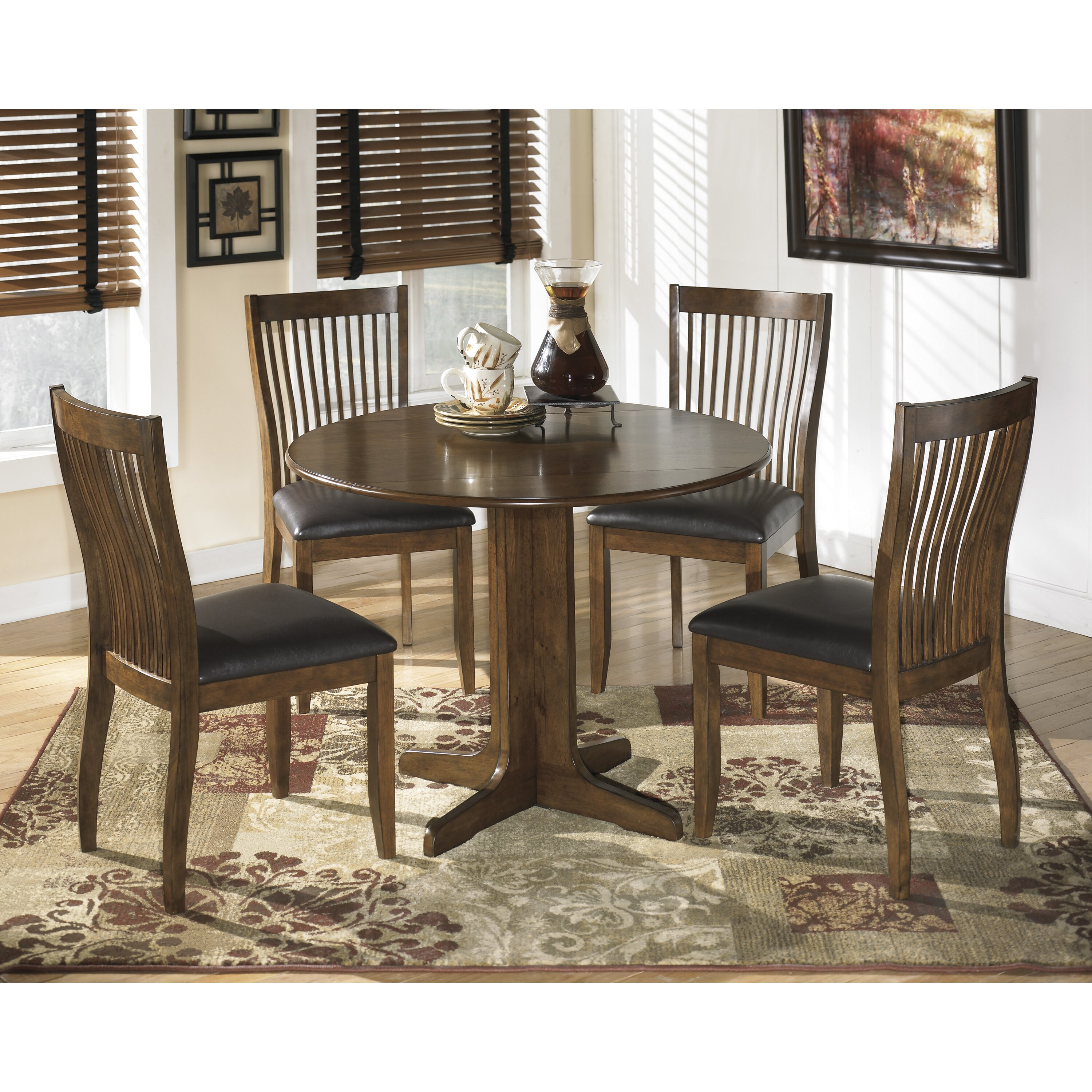 Signature Design By Ashley Stuman Drop Leaf Dining Table