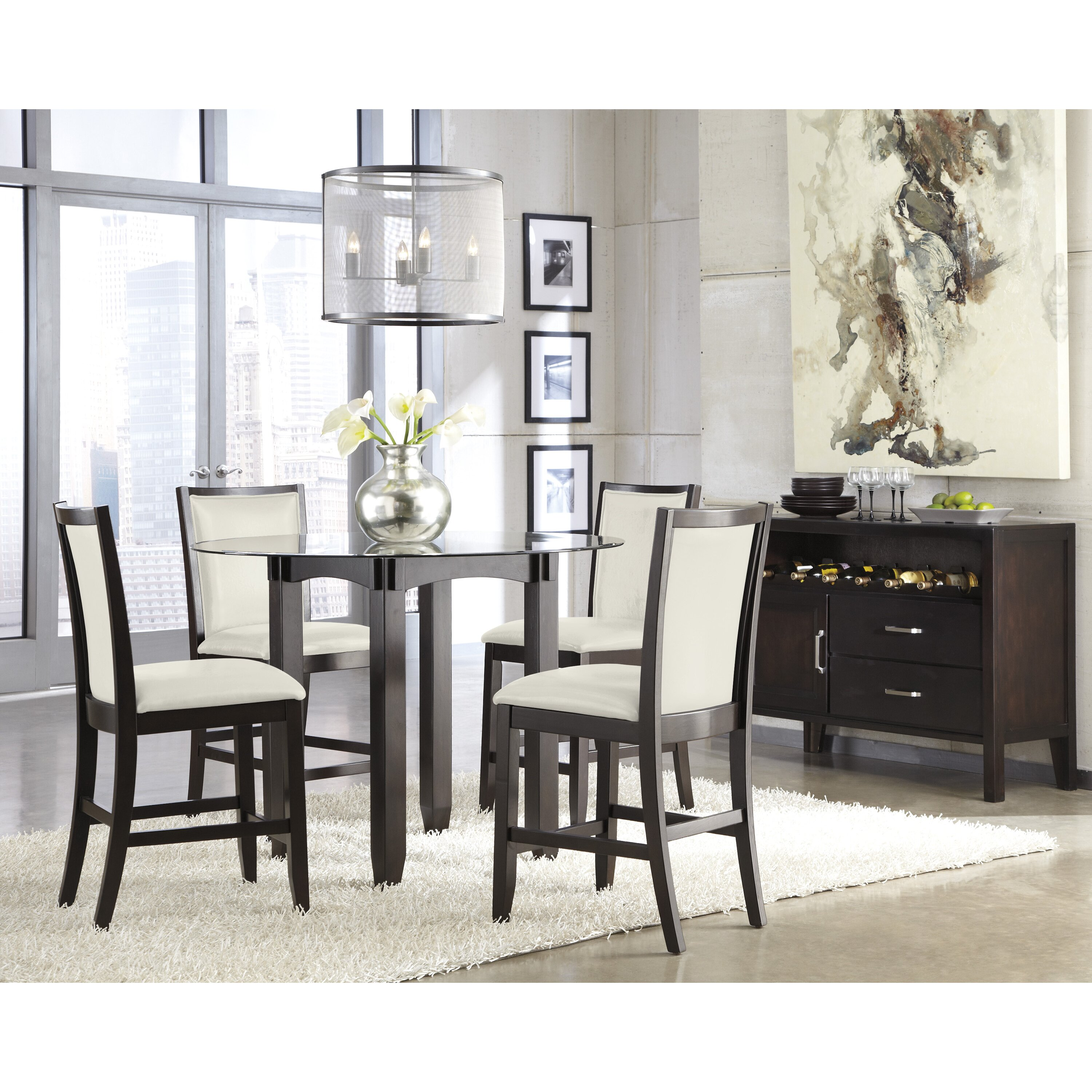 Signature design by ashley trishelle dining room server for Dining room server